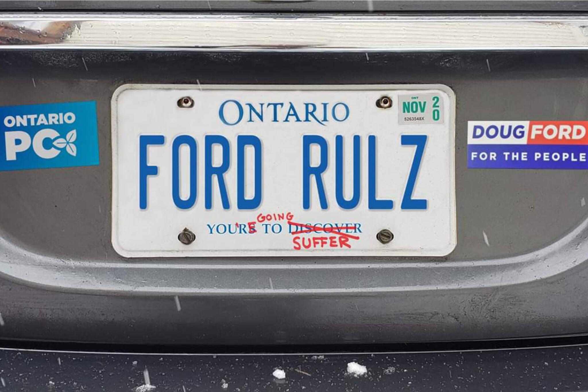 ontario license plates