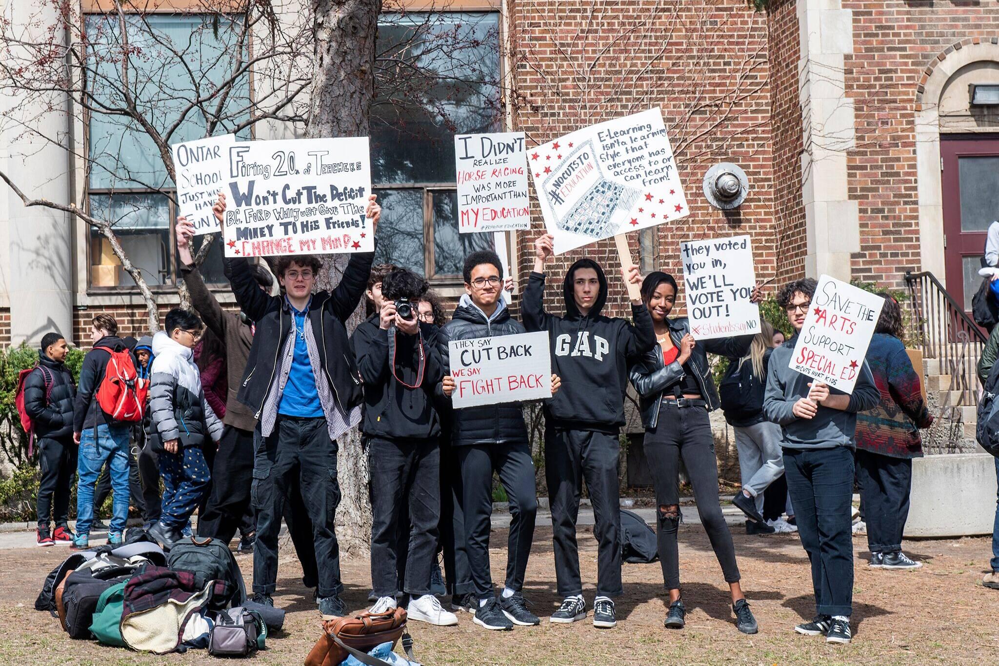 ontario student walkout