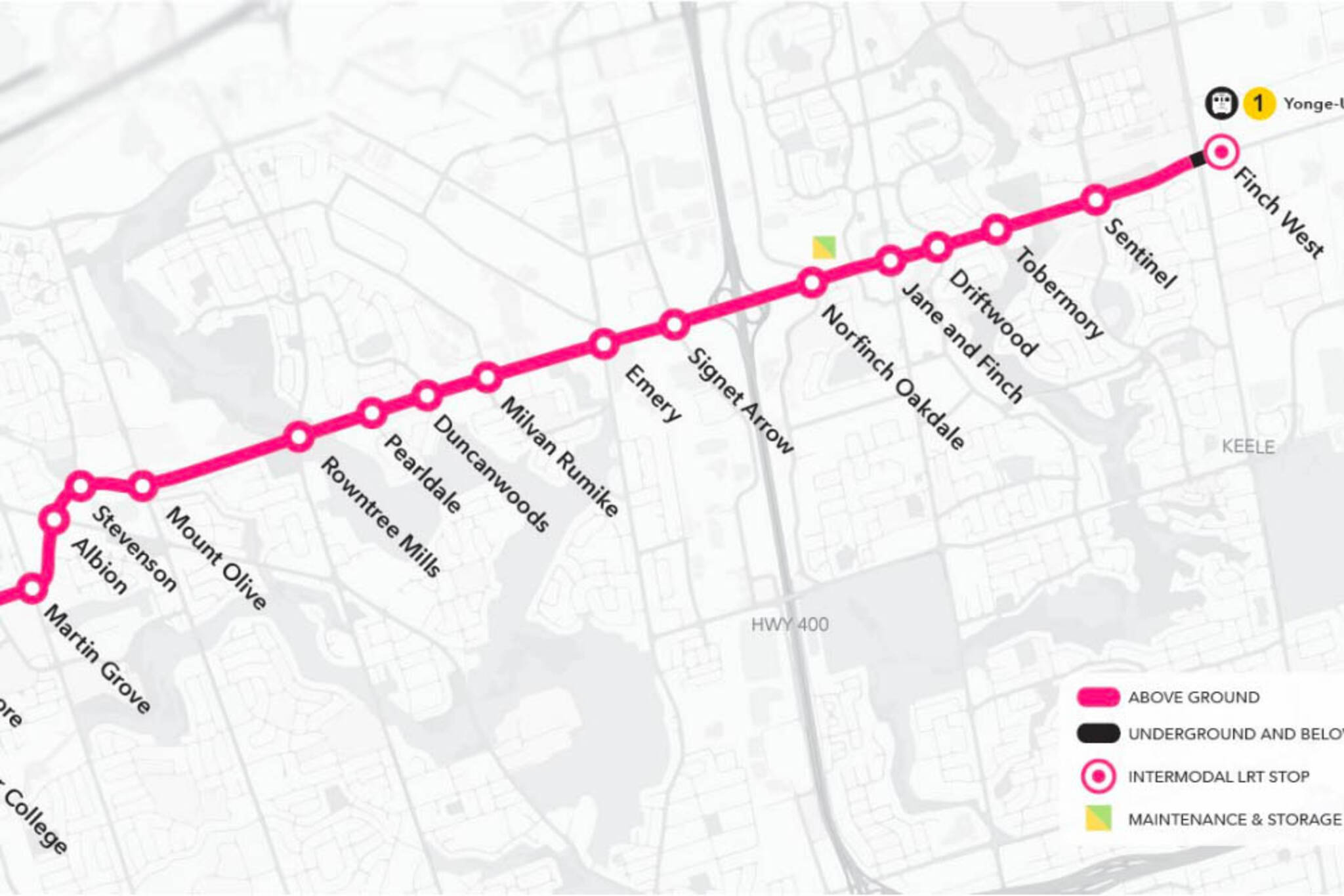 finch lrt station names