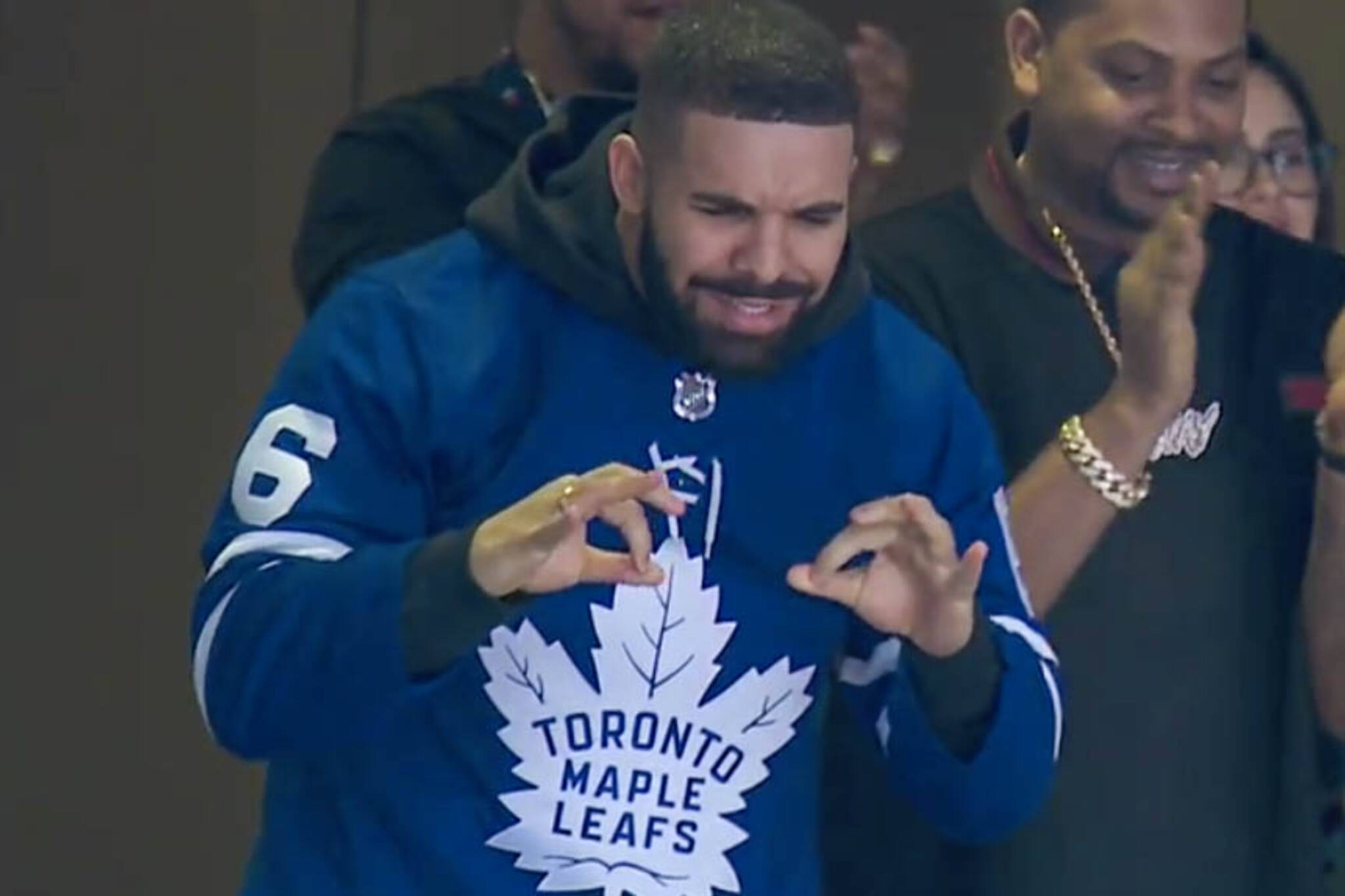 huge selection of 05ade b95af Toronto upset with Drake after Maple Leafs lose to Bruins