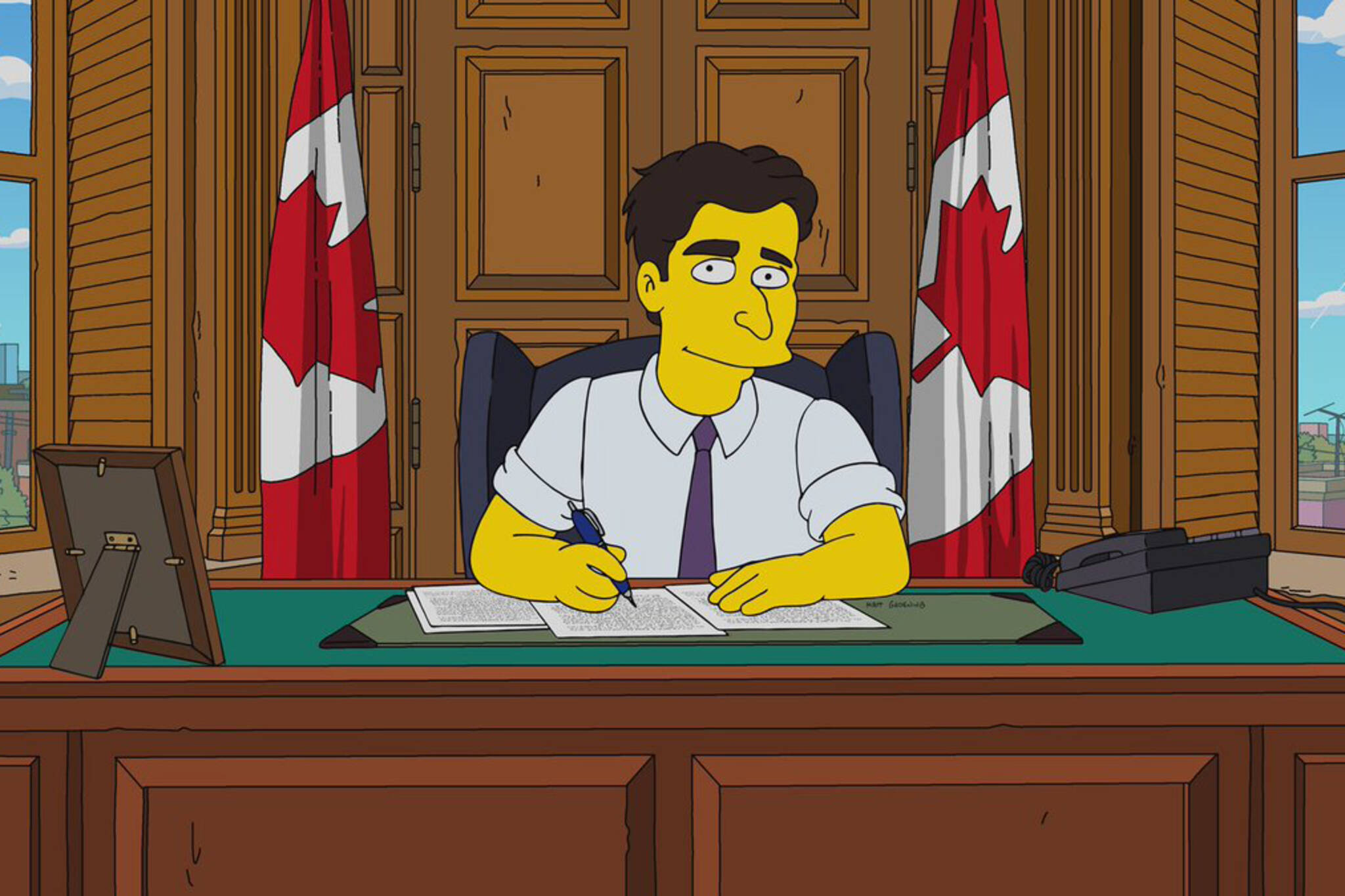 Simpsons Justin Trudeau