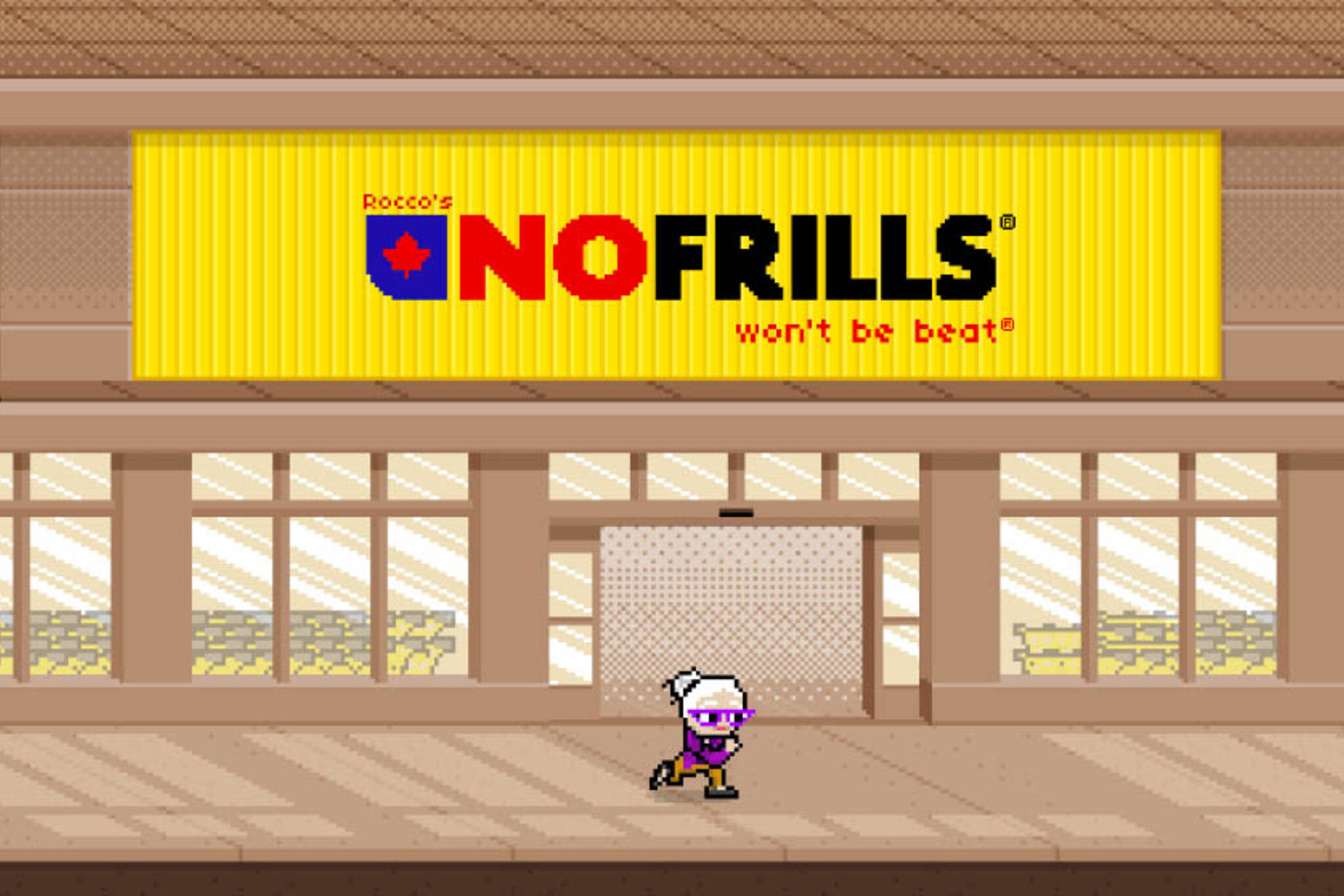 no frills video game