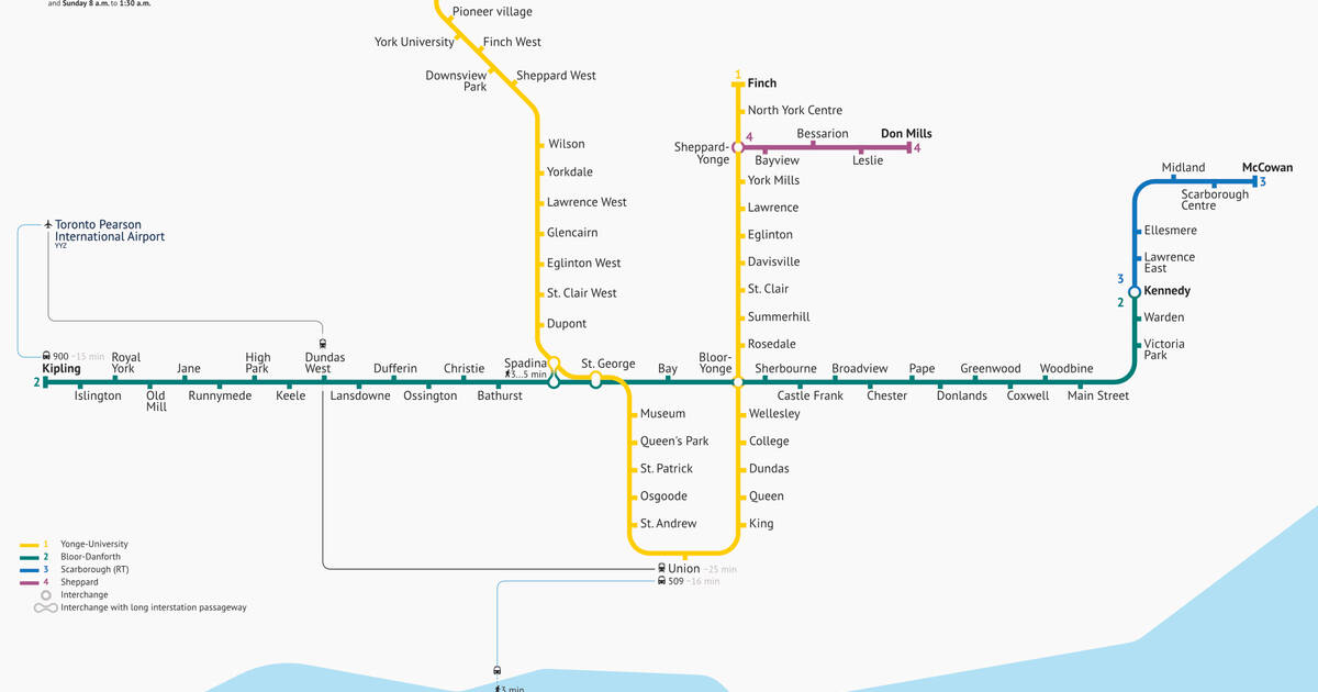 Toronto Subway Map.Events In Toronto Someone Just Gave Toronto S Subway Map An