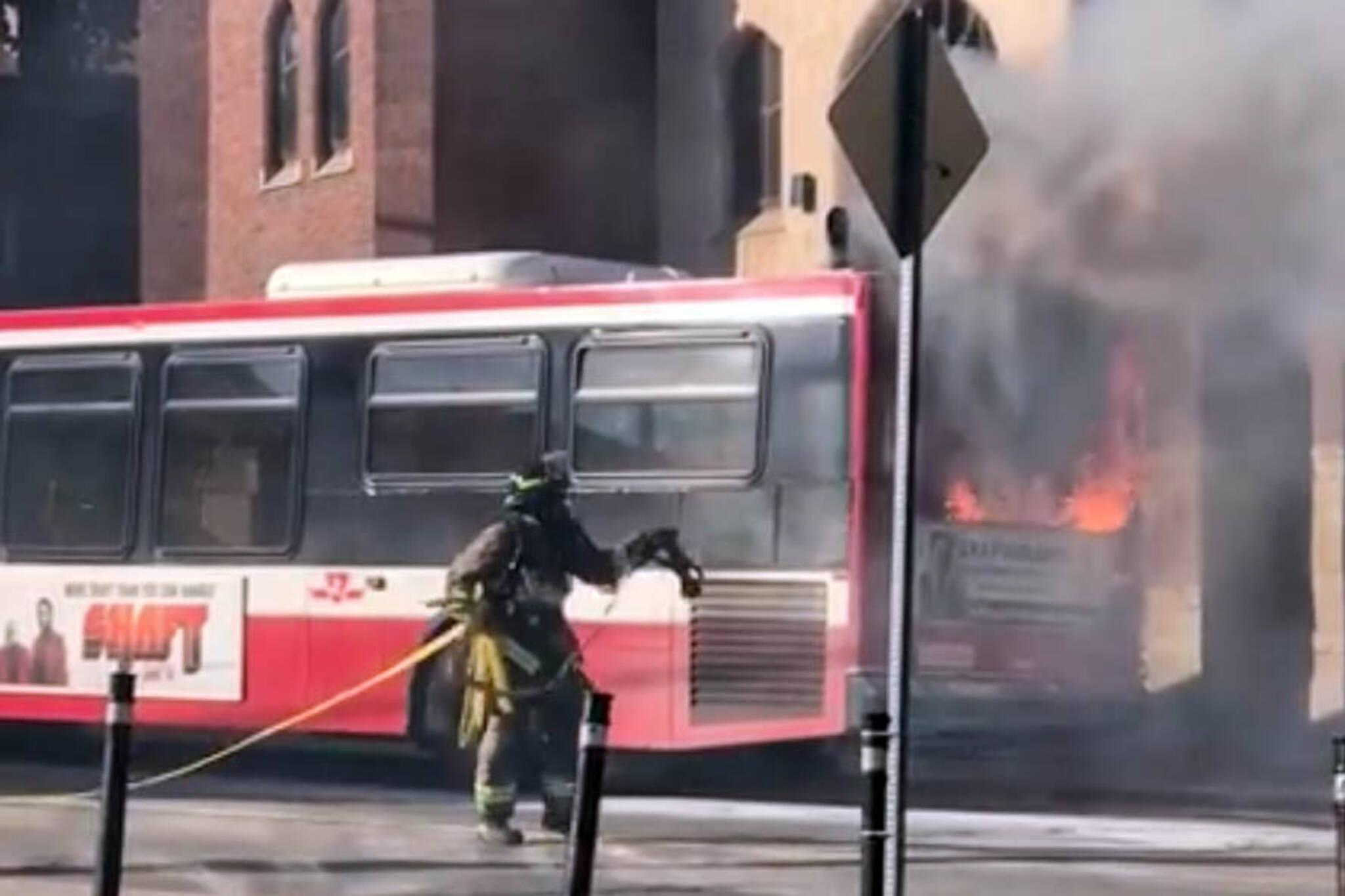 ttc bus fire