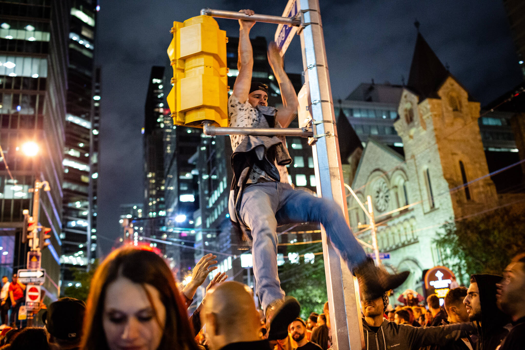 Toronto raptors celebration