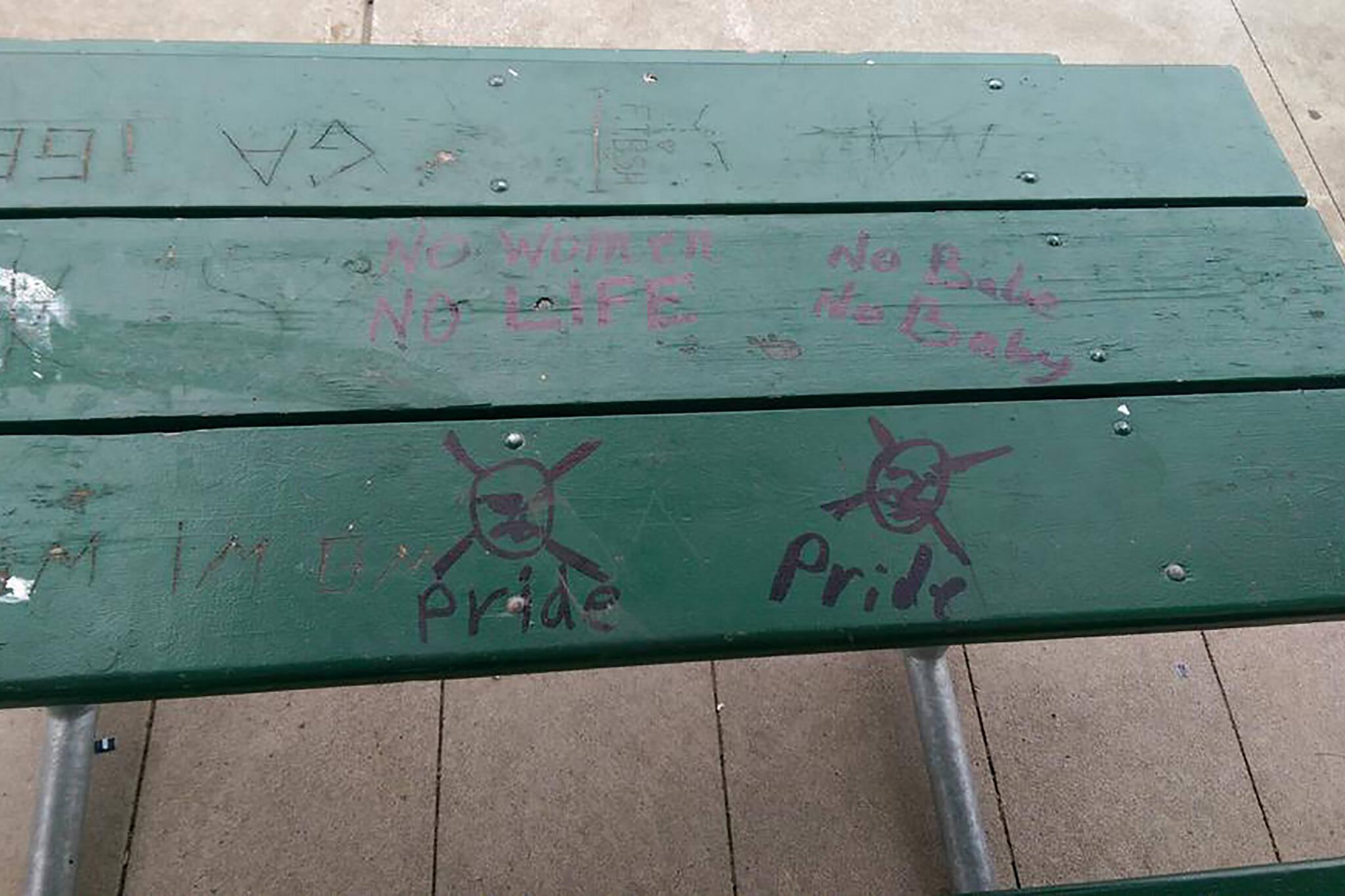 anti LGBTQ graffiti