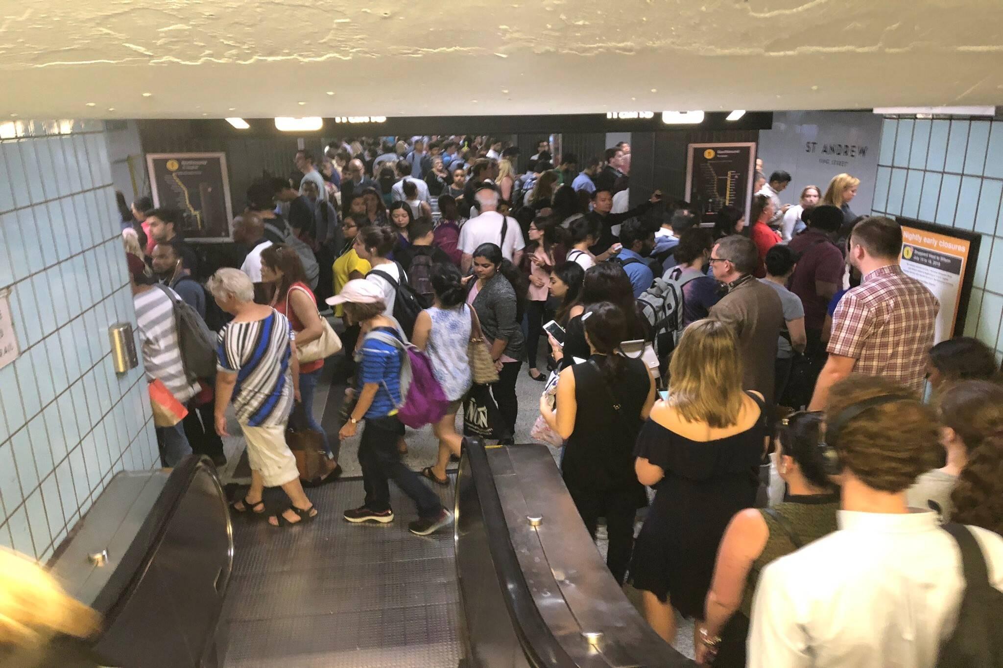 subway delays ttc