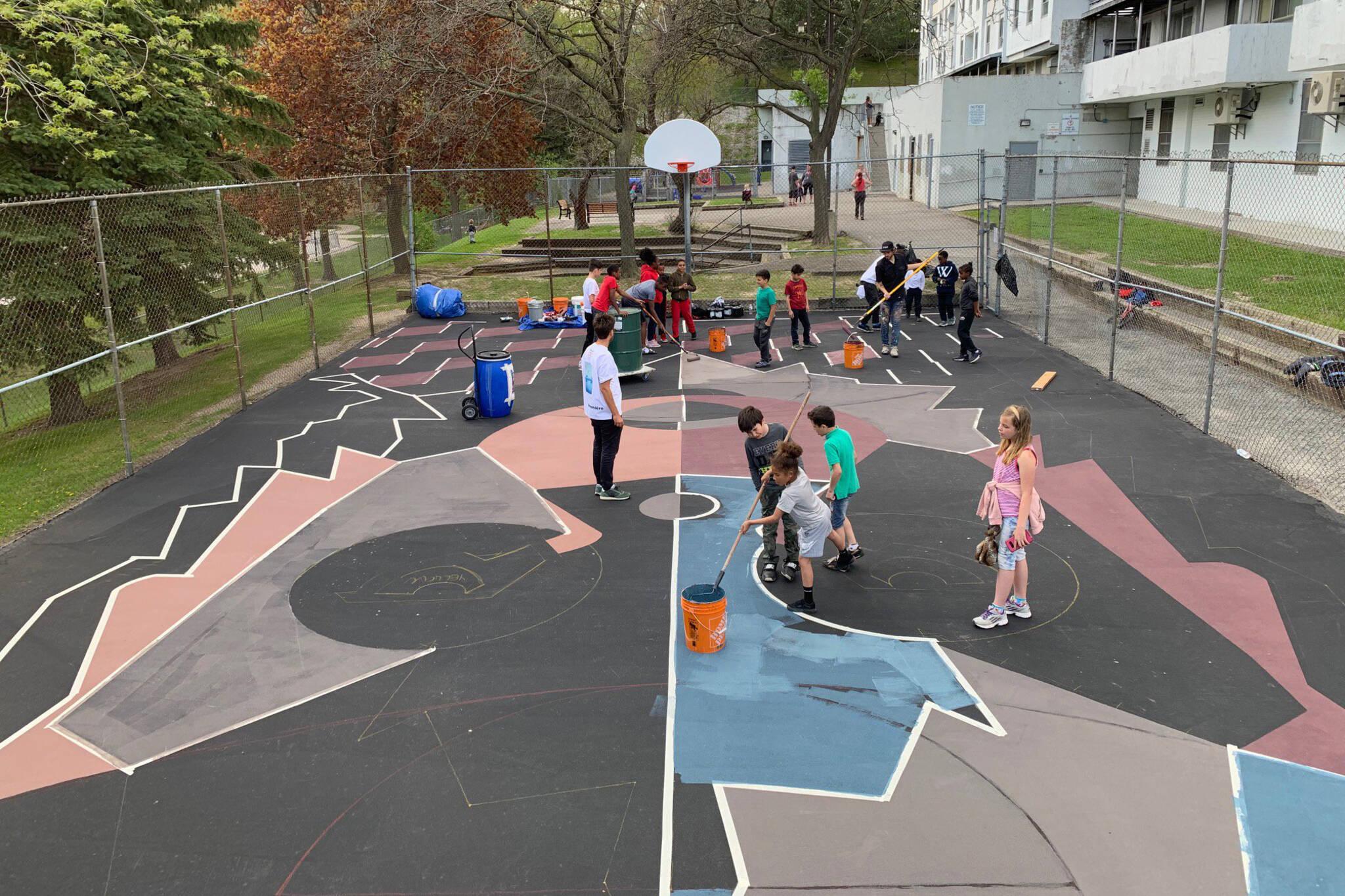 basketball mural toronto