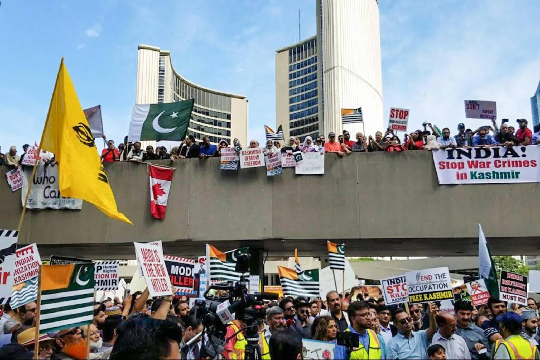 kashmir protest toronto
