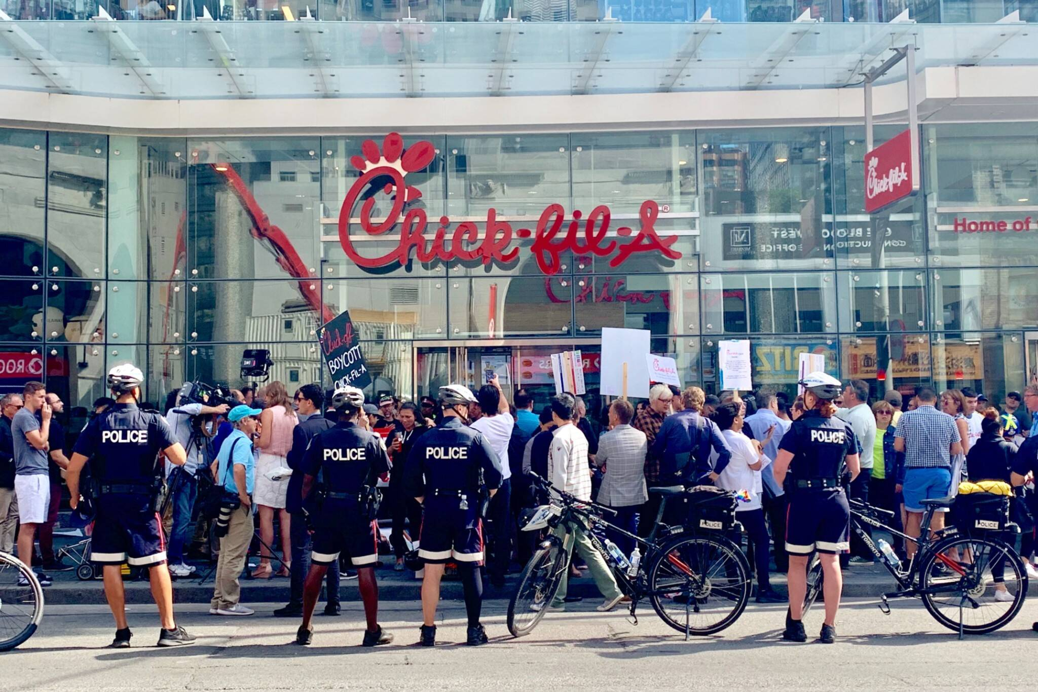 chick fil a protest