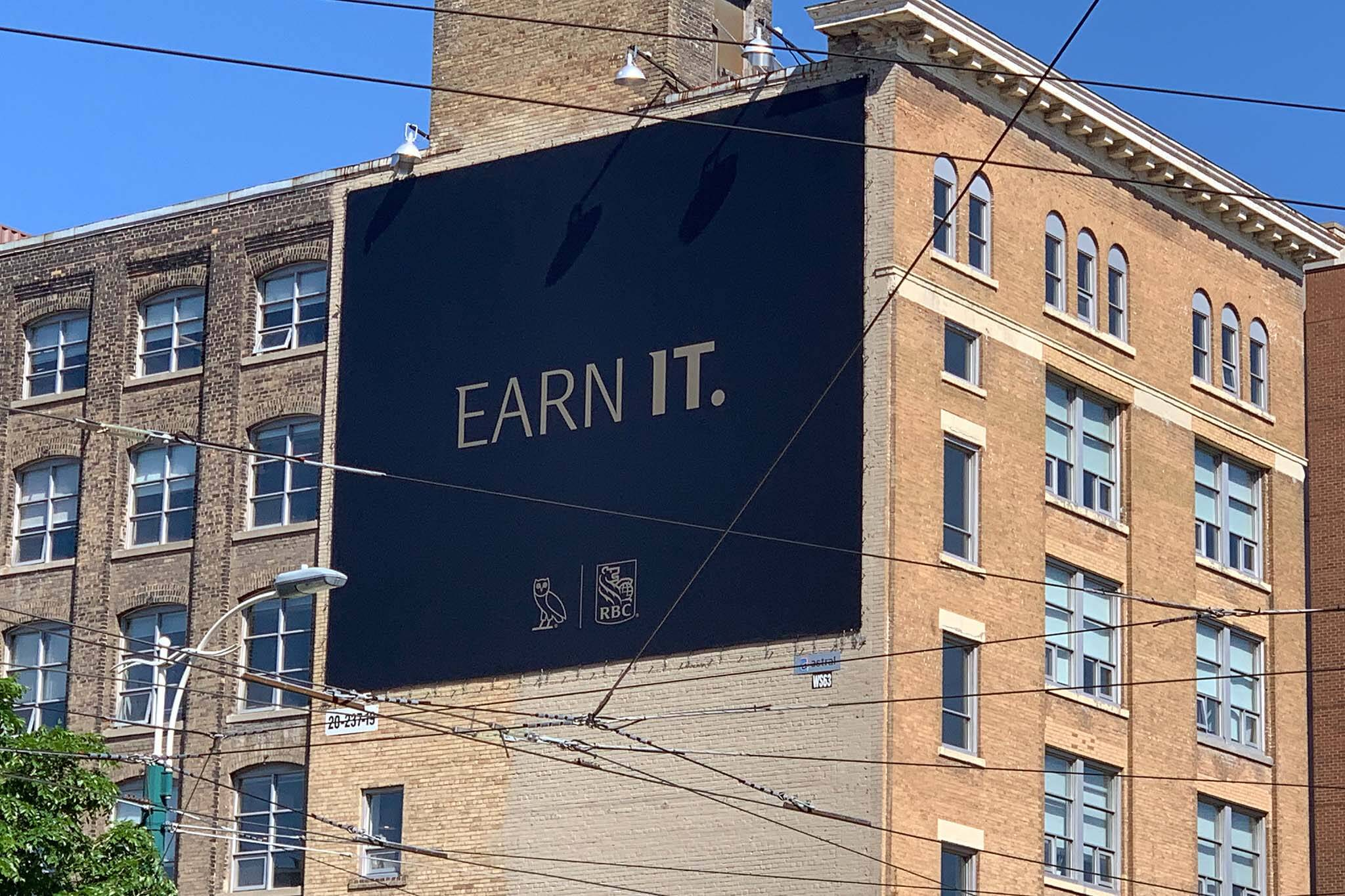 Drake and RBC credit card rumoured as billboards surface in