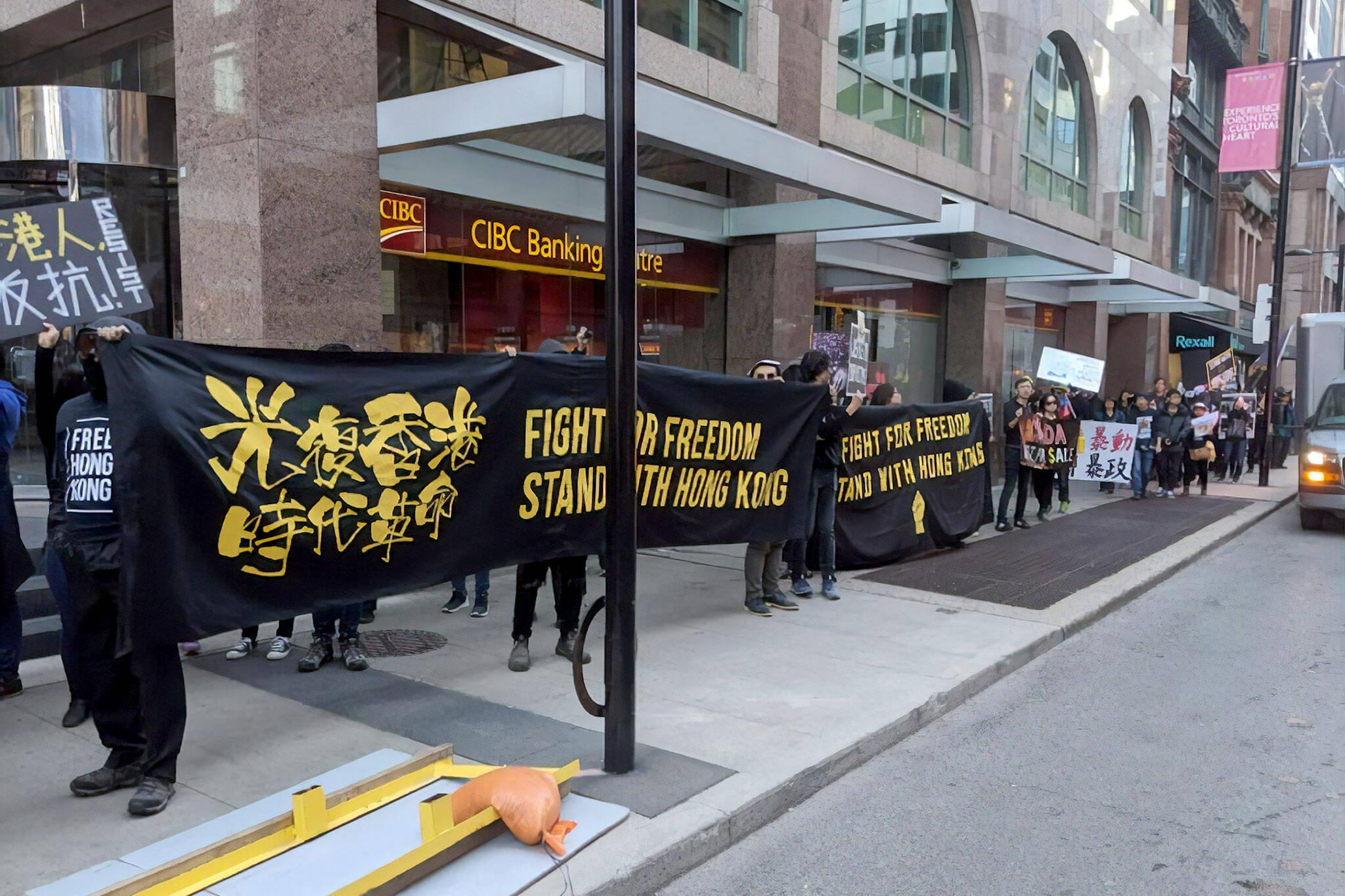 hong kong protests toronto