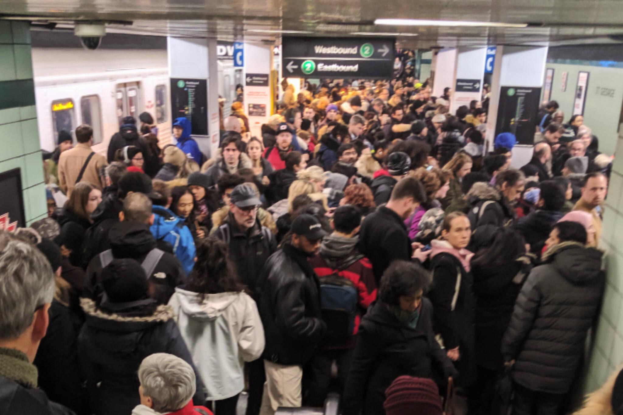 ttc closure subway delay