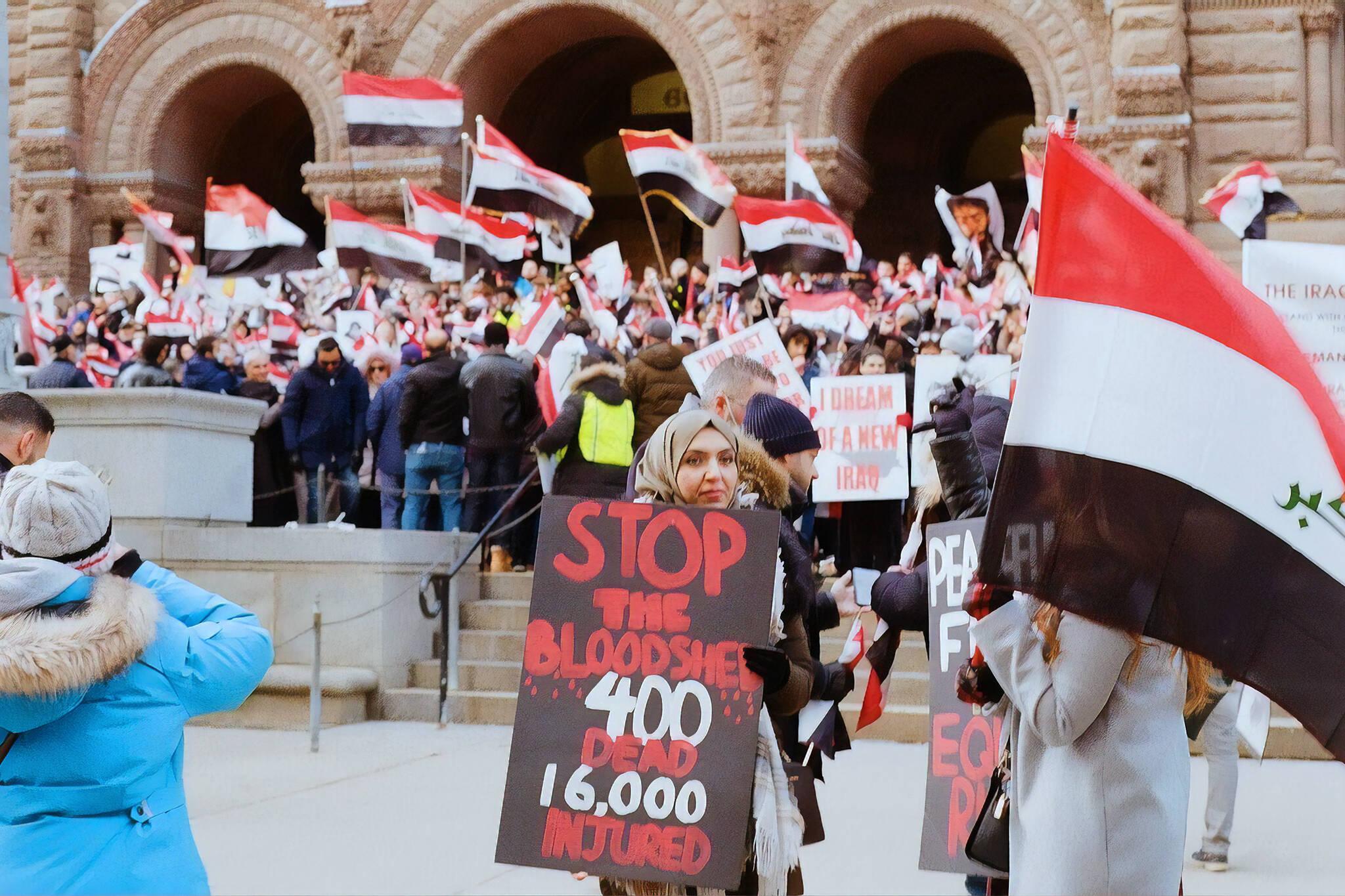iraq protest toronto