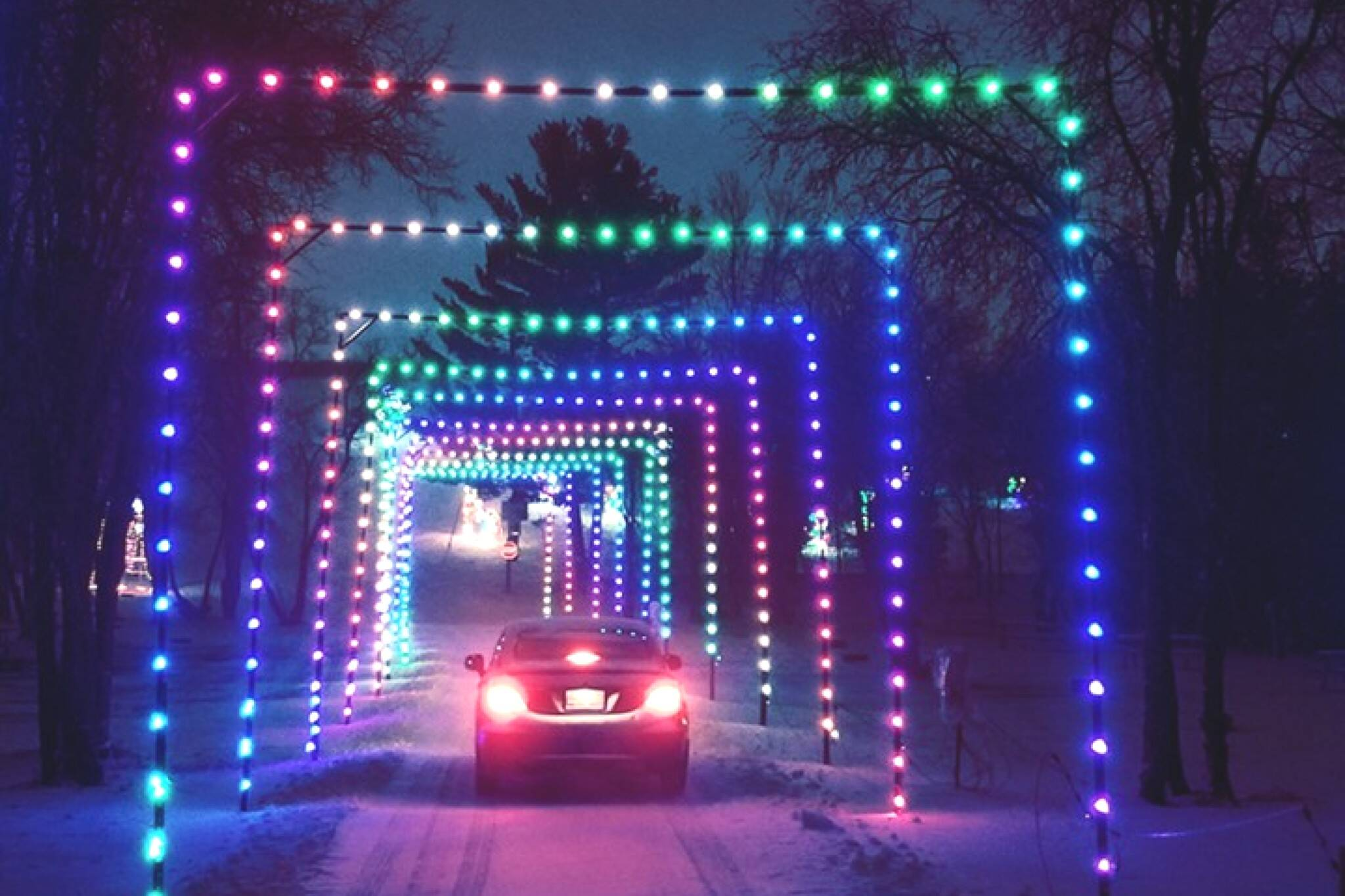 holiday lights tunnel near Toronto