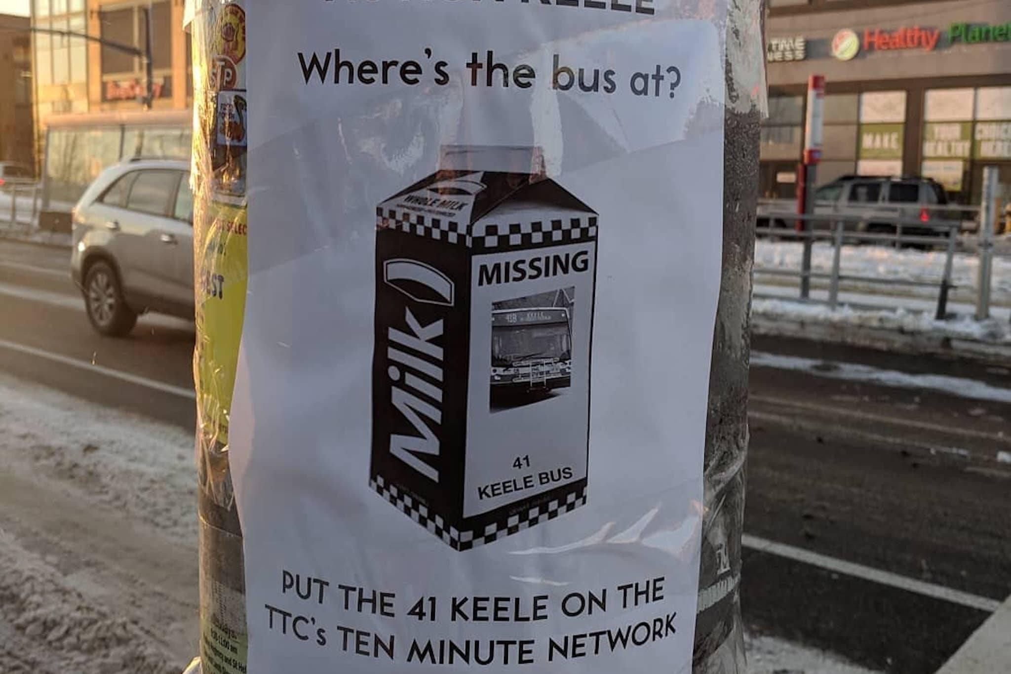 ttc bus service keele