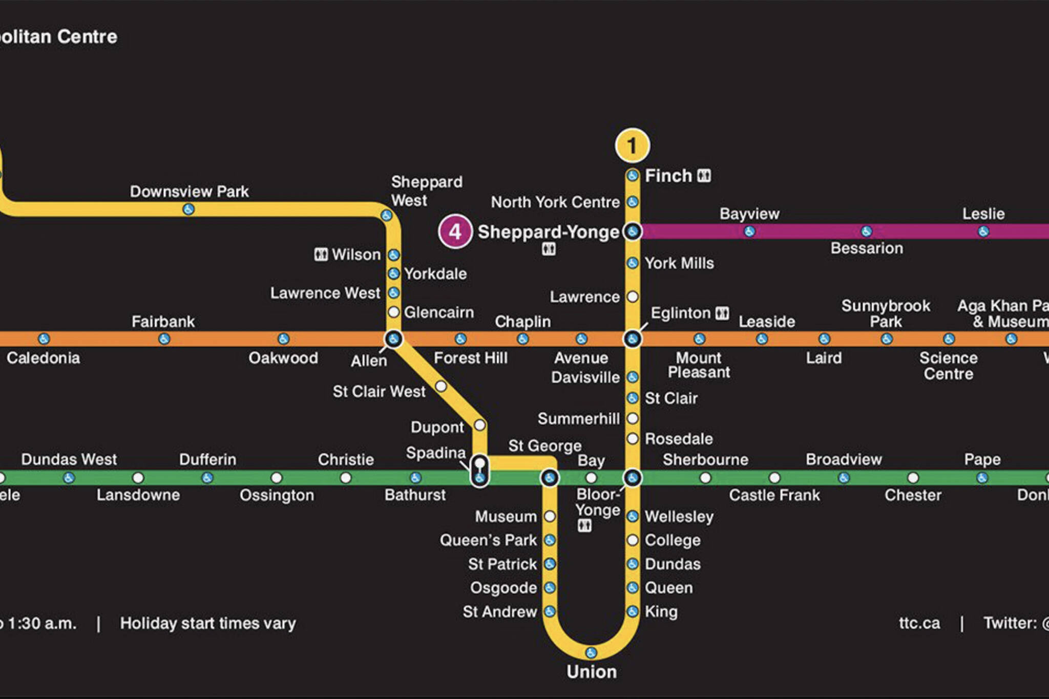 Toronto Subway Stations Map.This Is What The Ttc Subway Map Will Look Like In 2021