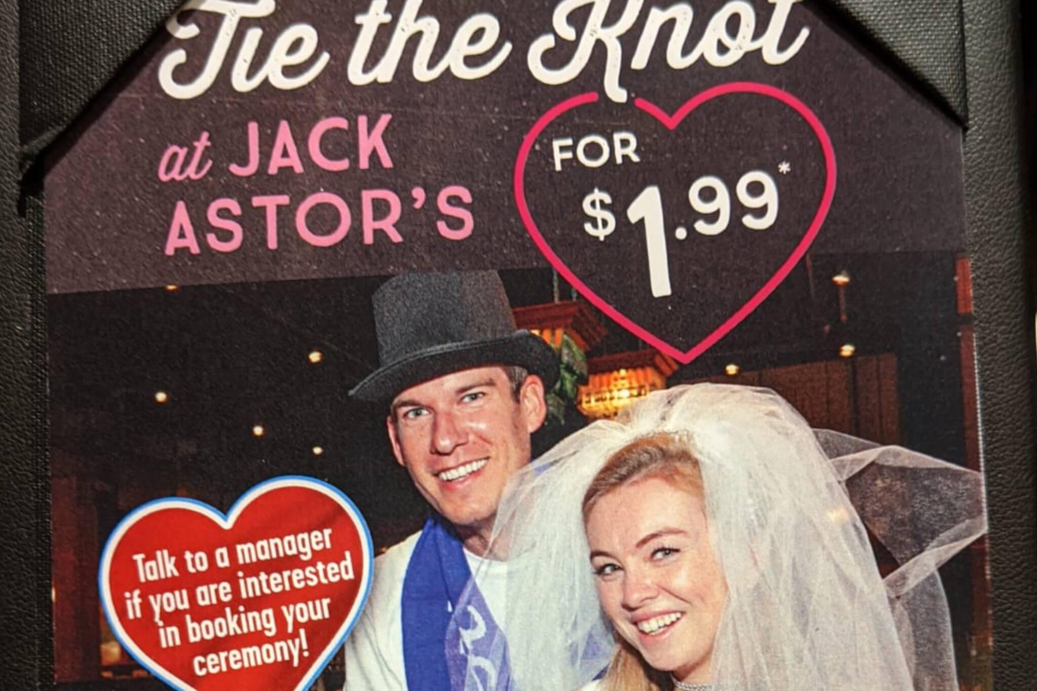jack astors wedding