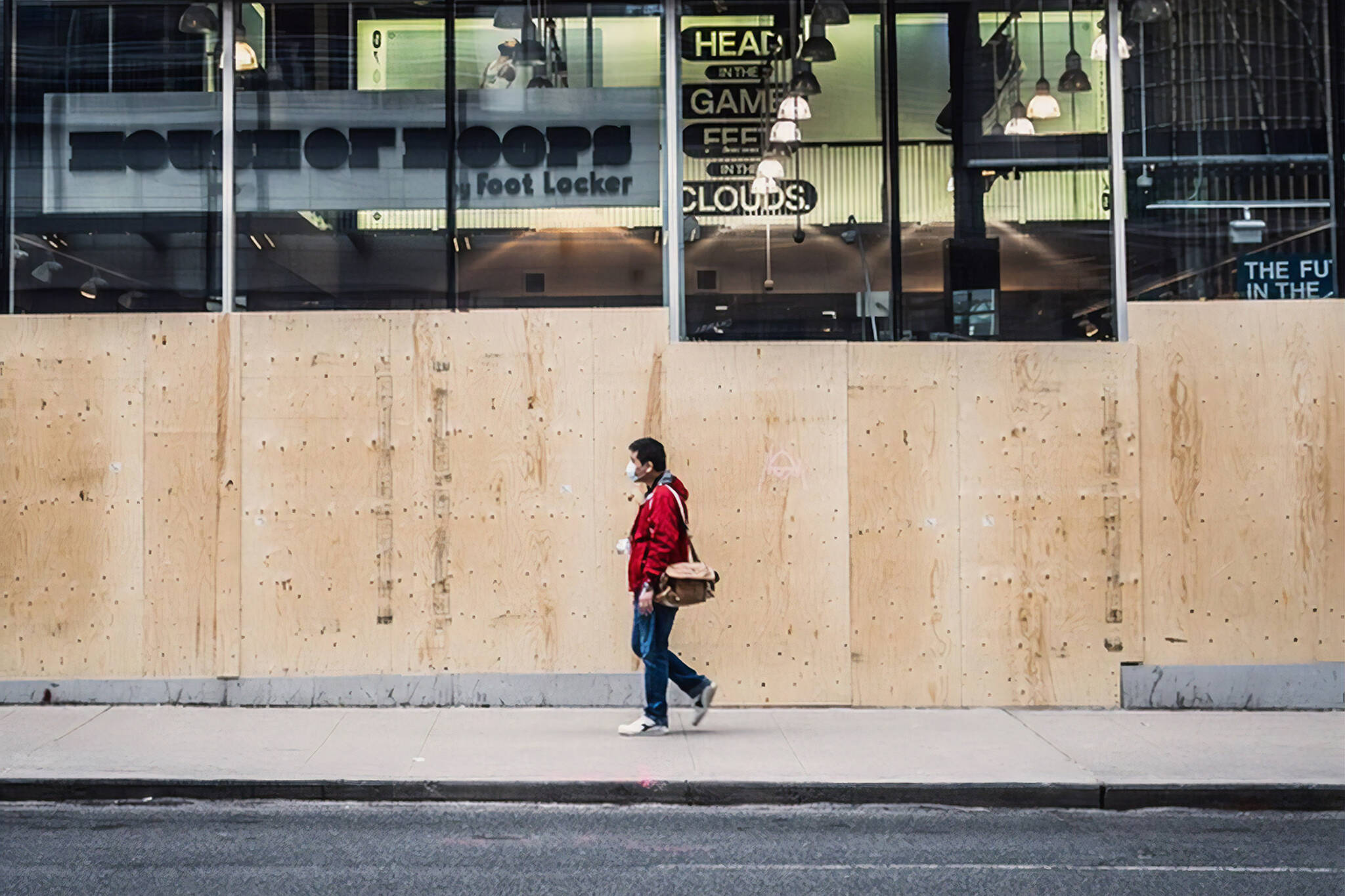eaton centre boarded up
