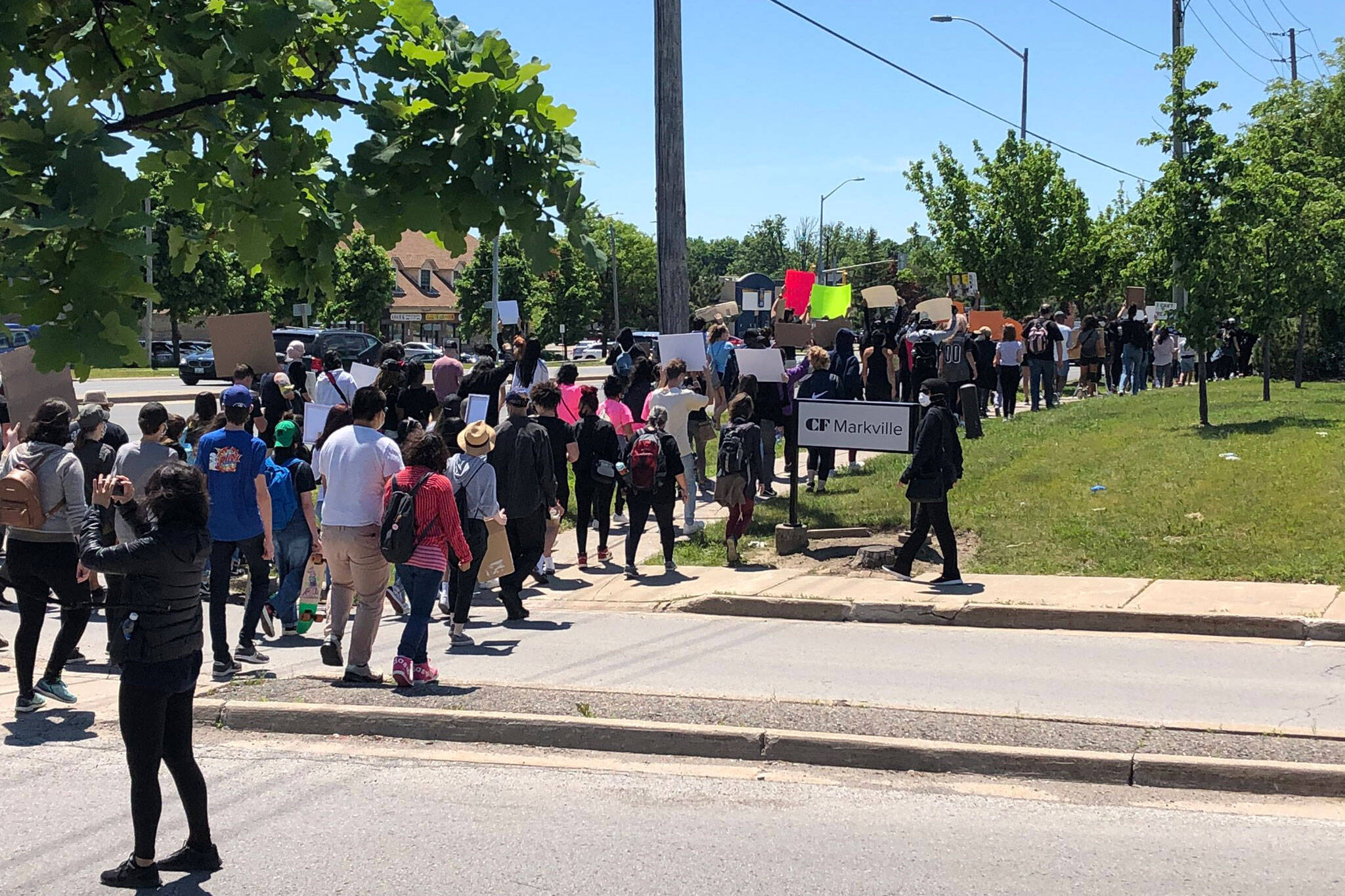 markham protest
