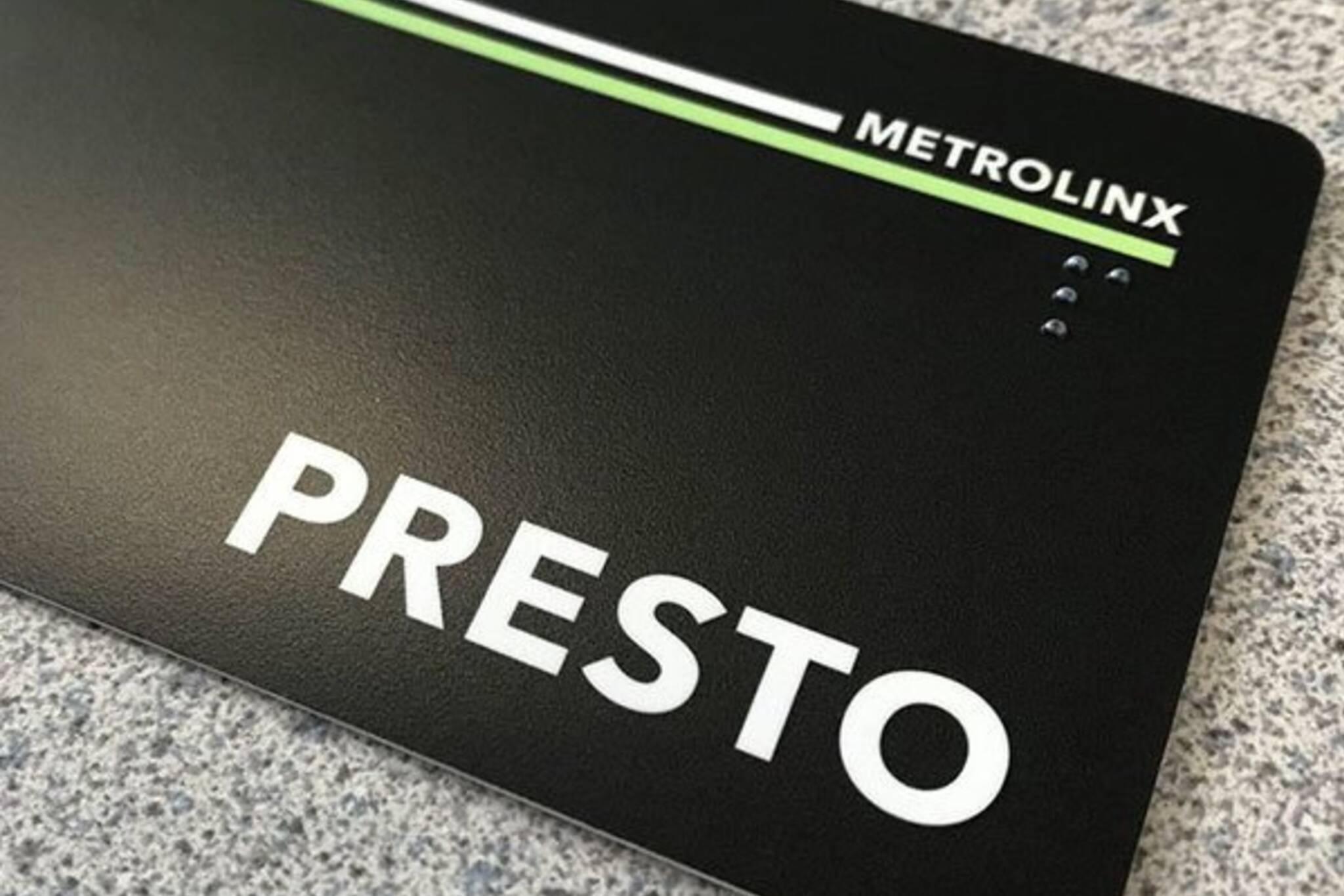 ttc free presto card