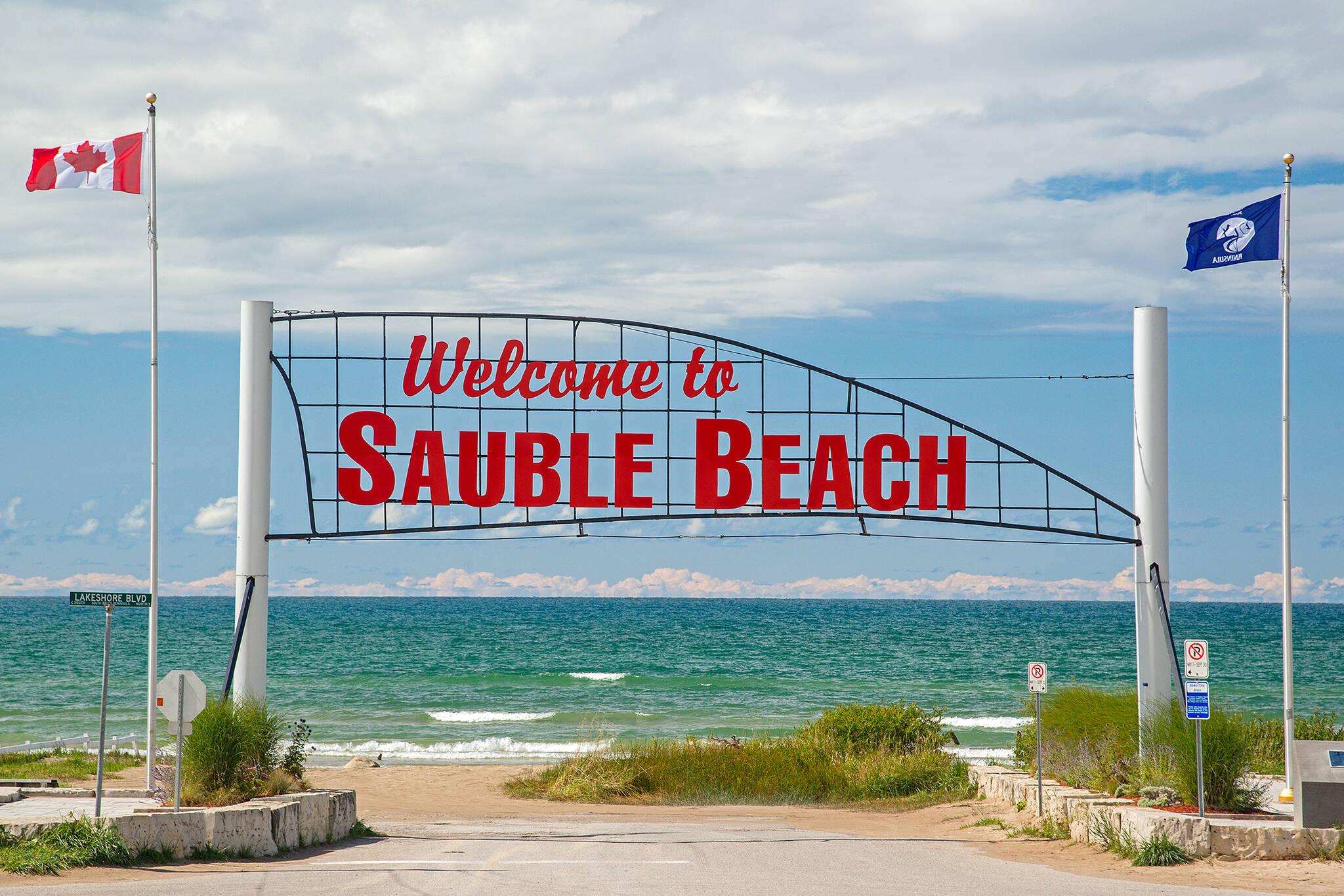sauble beach closure