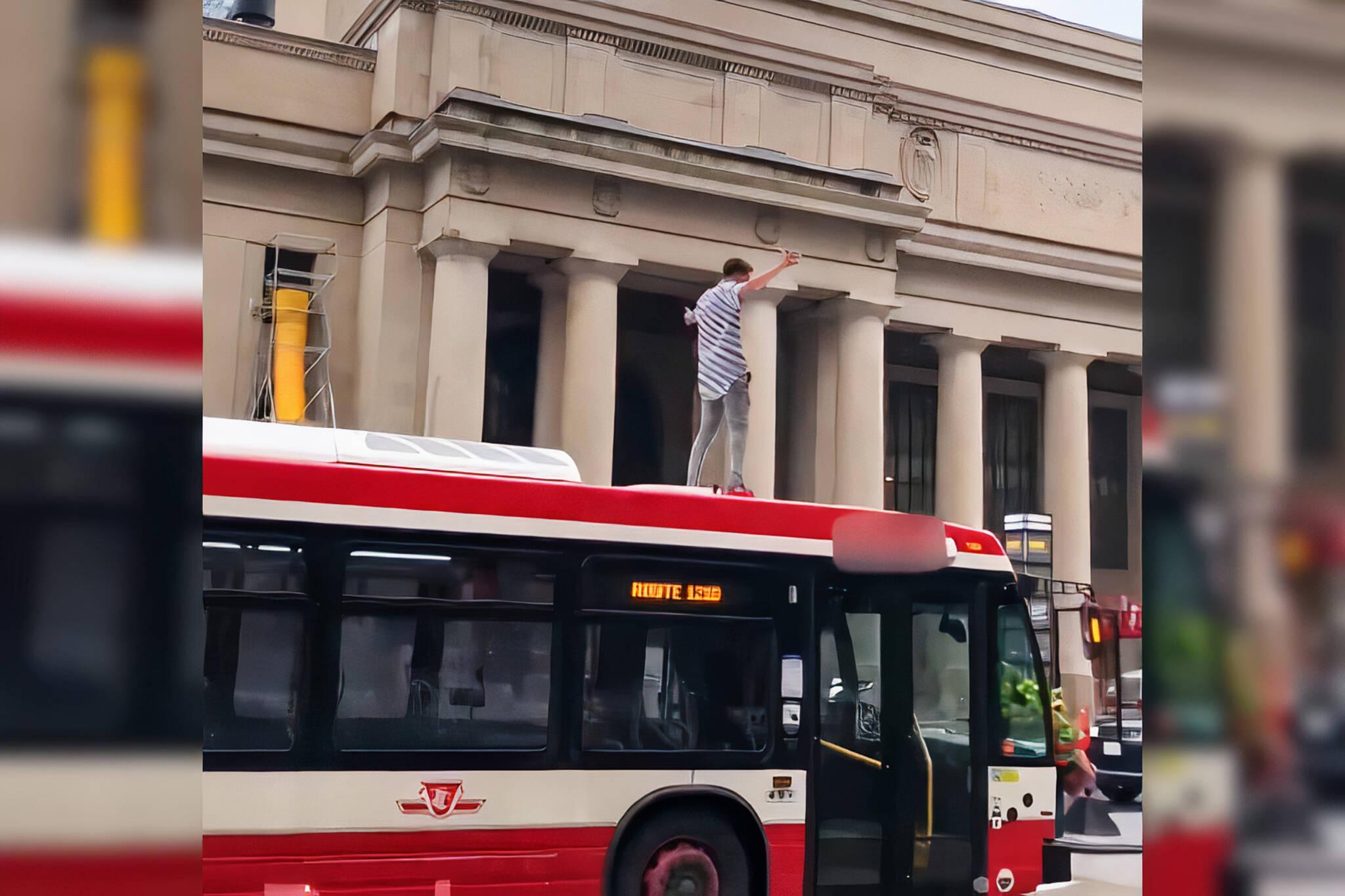 ttc bus stunt