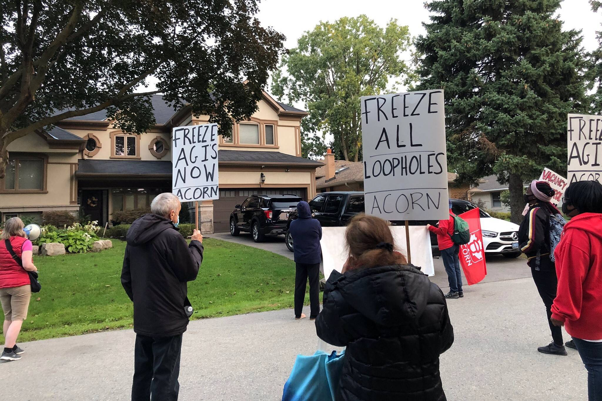 doug ford house protest