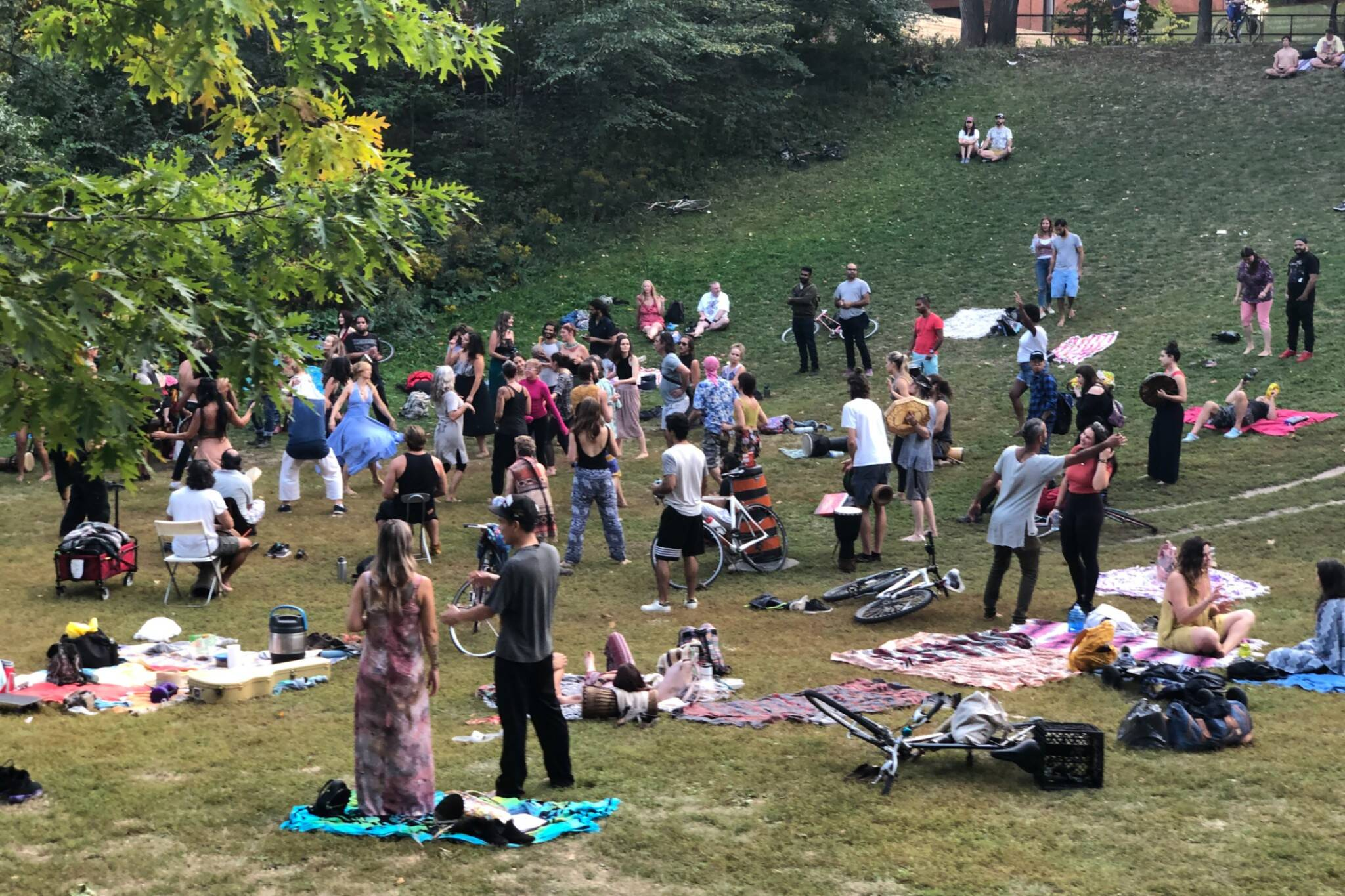 trinity bellwoods drum circle