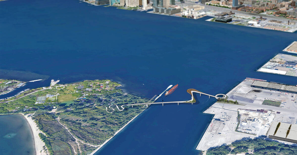 Here's what a new bridge to the Toronto Islands could look like