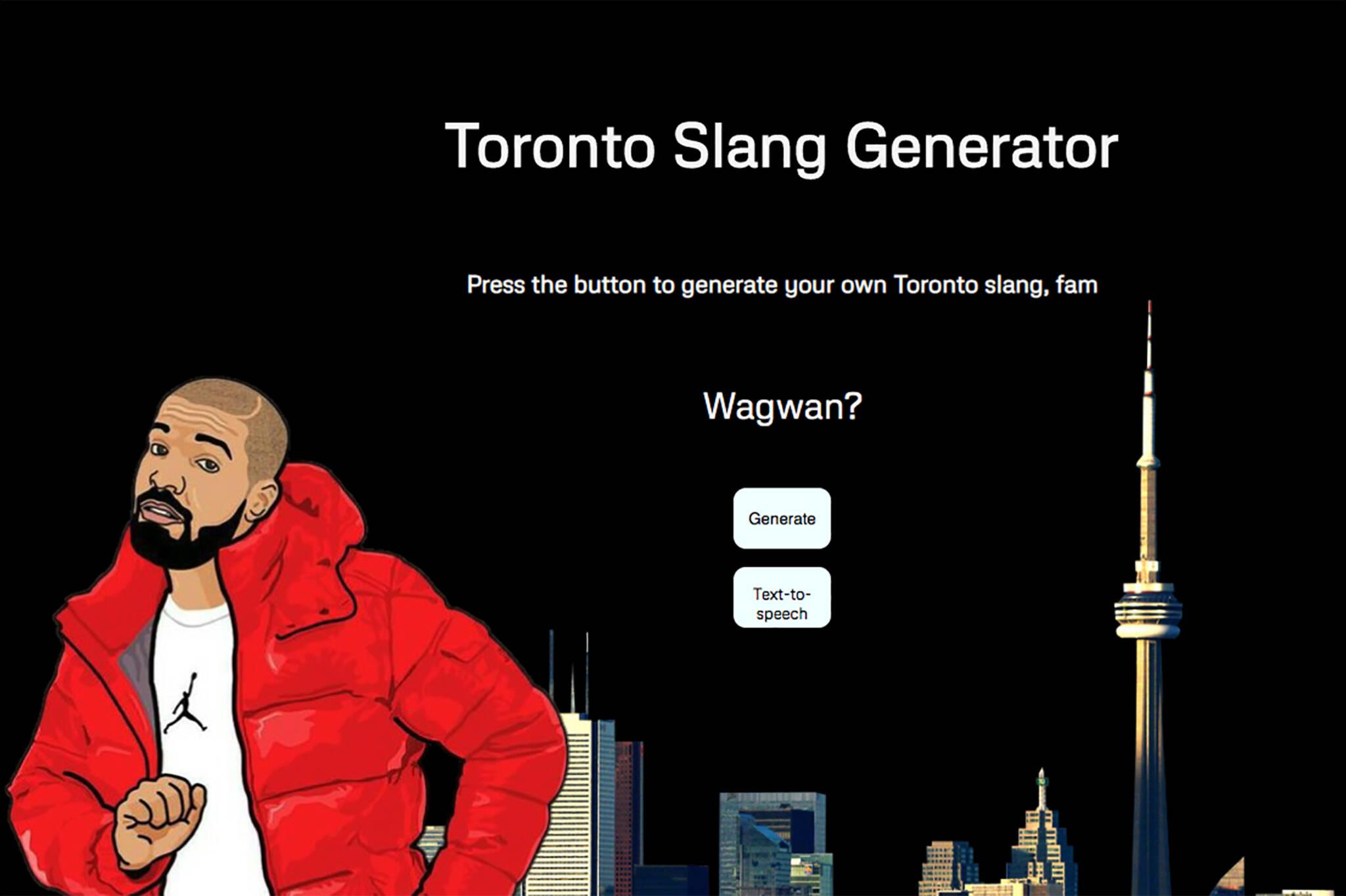 toronto slang generator