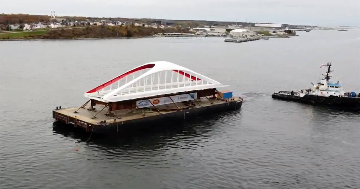 Toronto's coolest new bridge is currently floating in the Atlantic Ocean