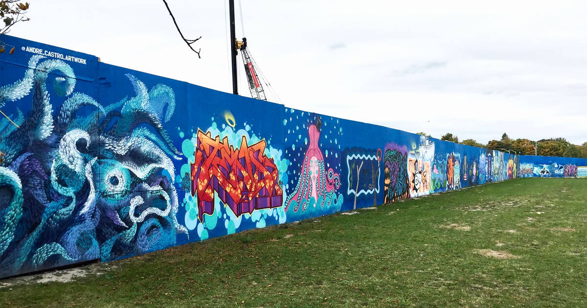 Toronto just got a massive outdoor mural with work from almost 100 artists
