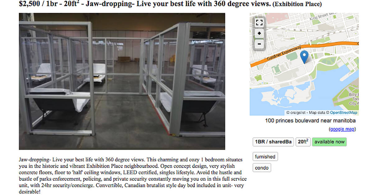 Craigslist apartment ad skewers Toronto's response to the ...