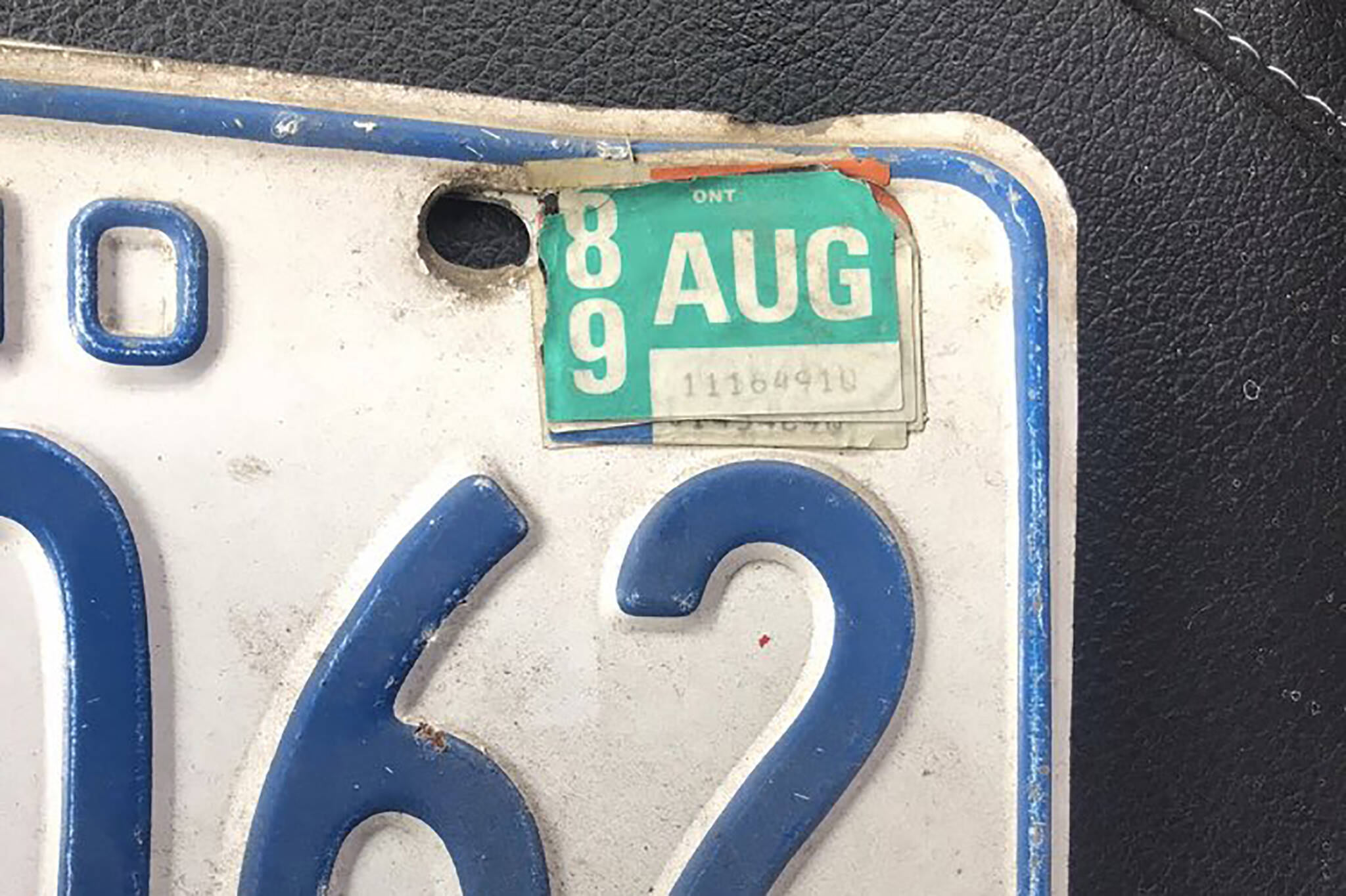expired plates ontario