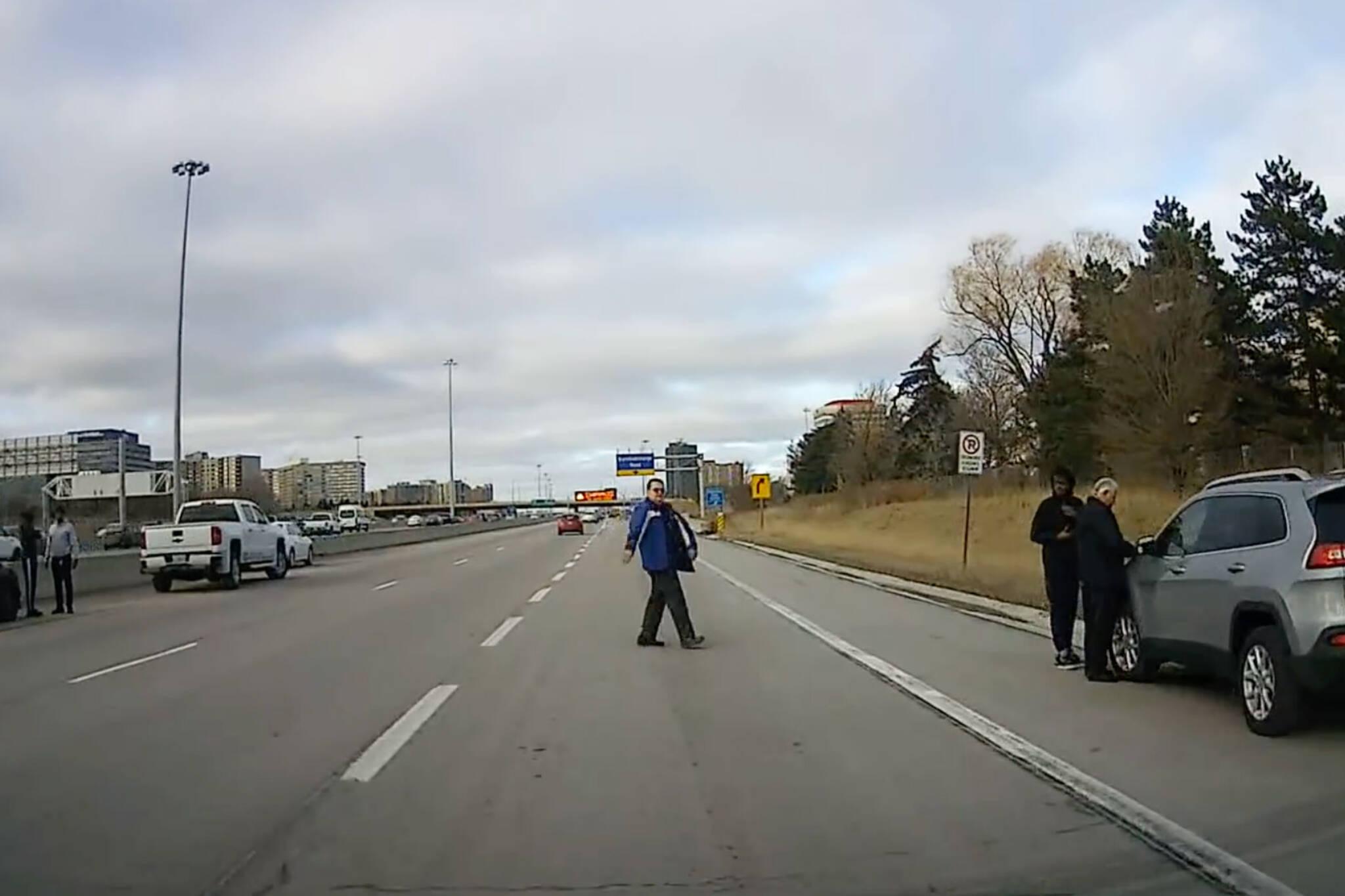 pedestrian highway crash