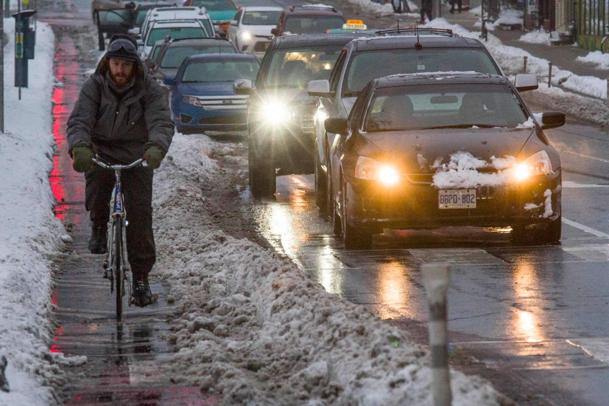 snow bike lanes toronto
