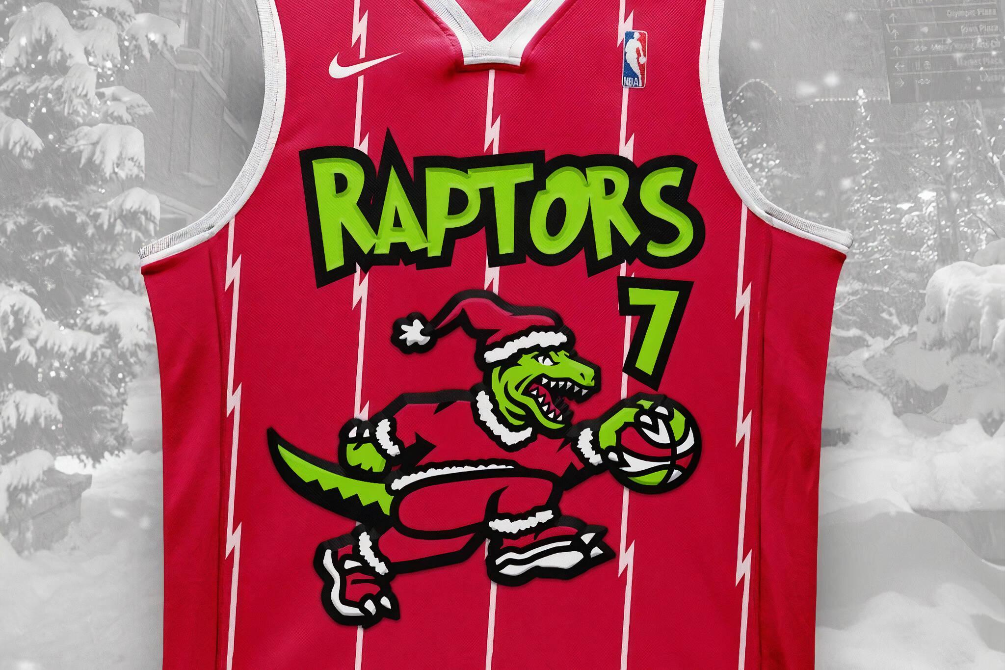 raptors christmas jersey