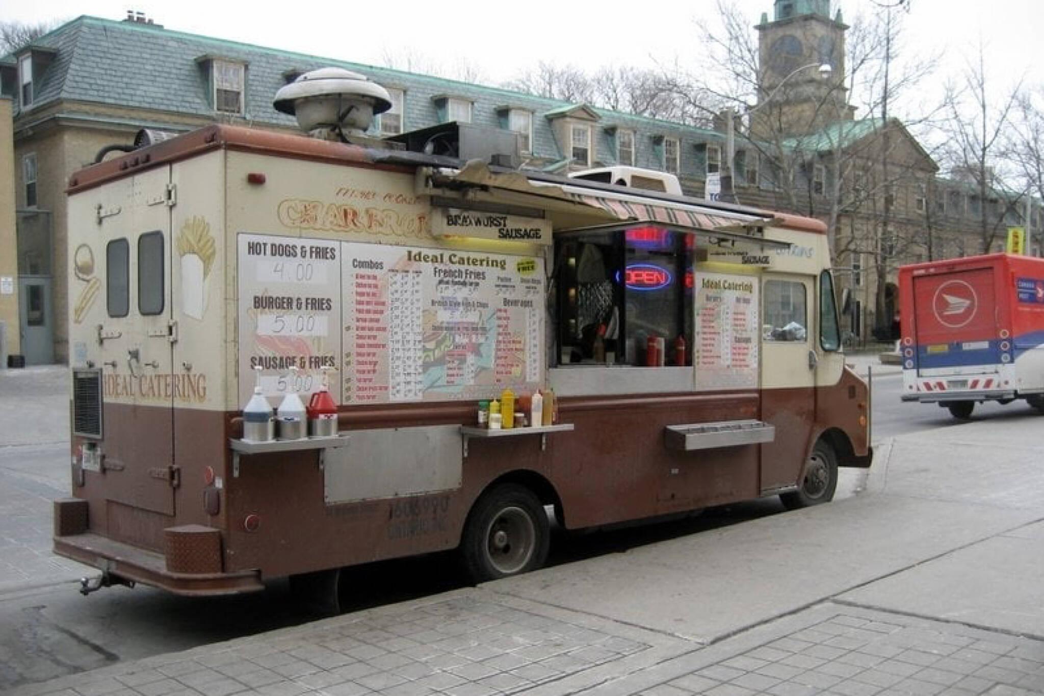 brown food truck