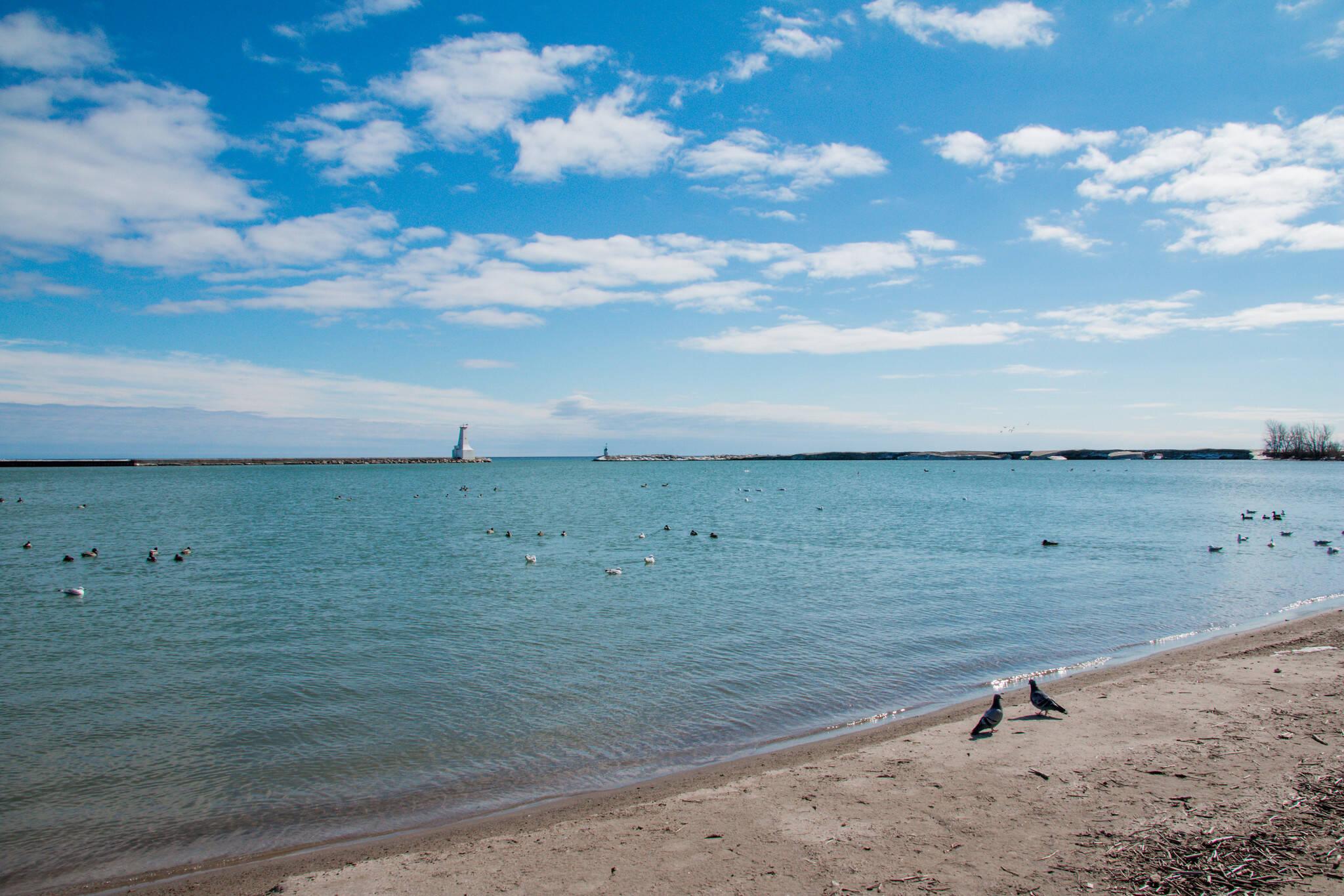 Cobourg beach closed