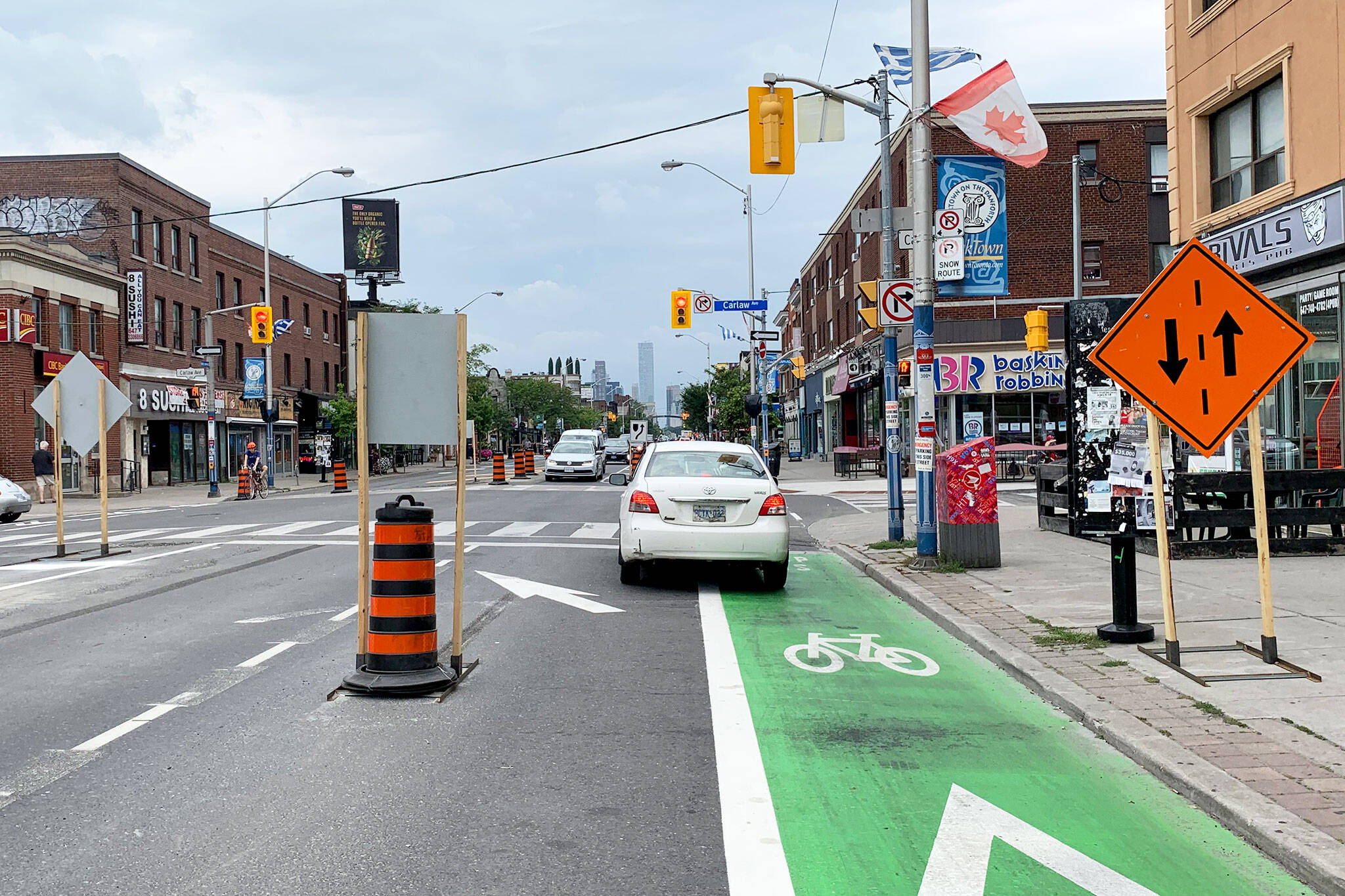 danforth bike lanes