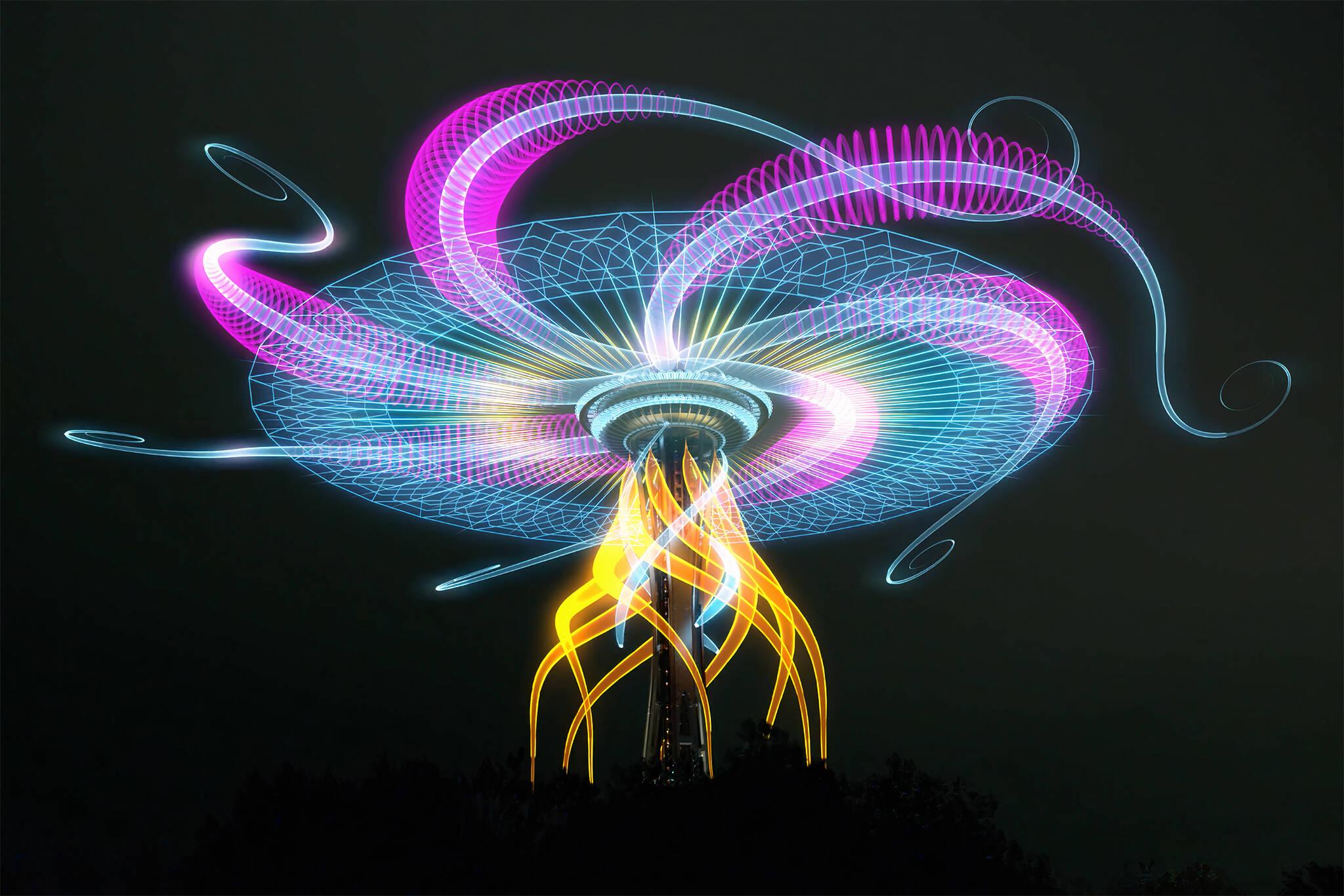 cn tower light show