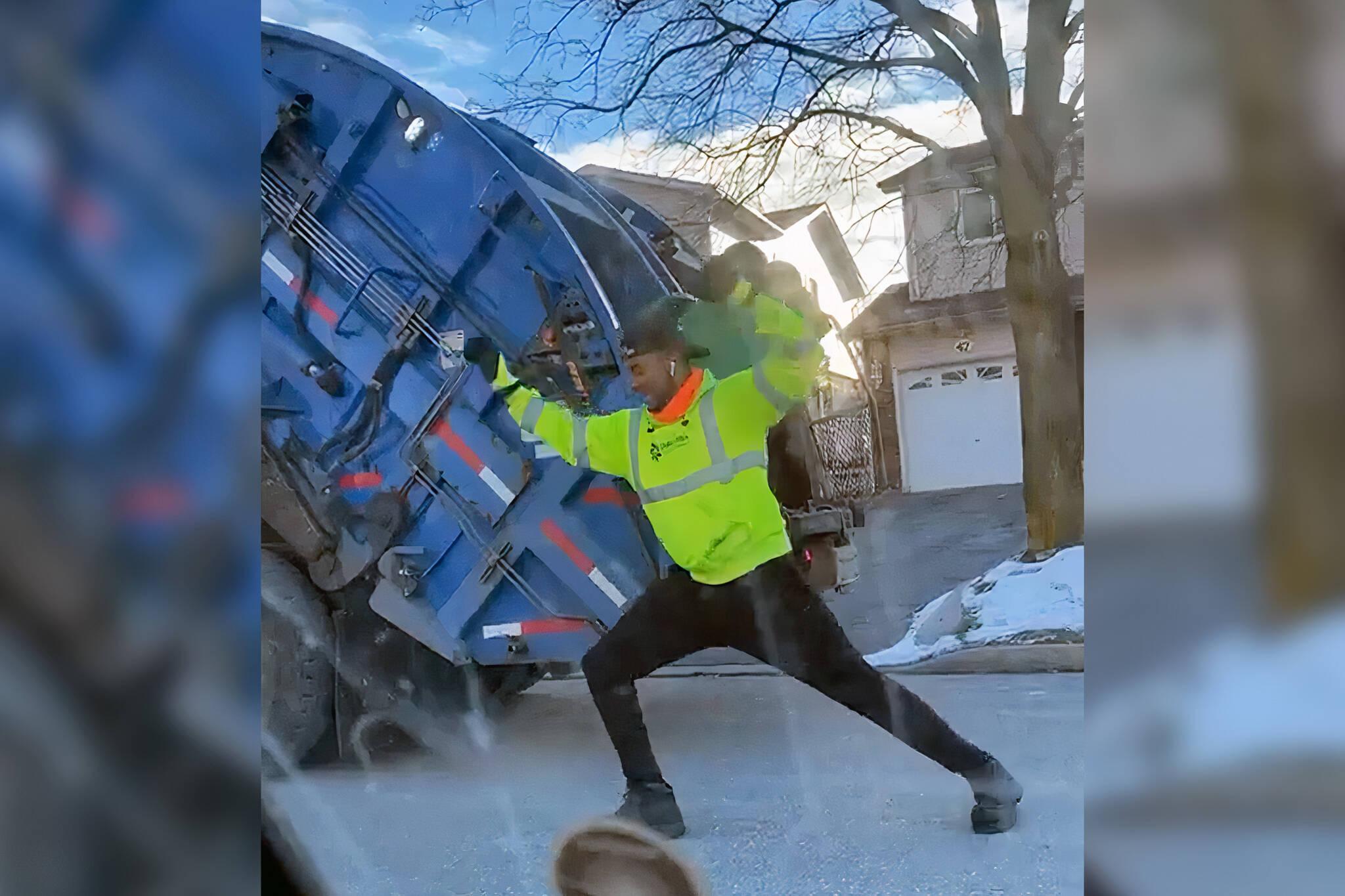 dancing garbage man
