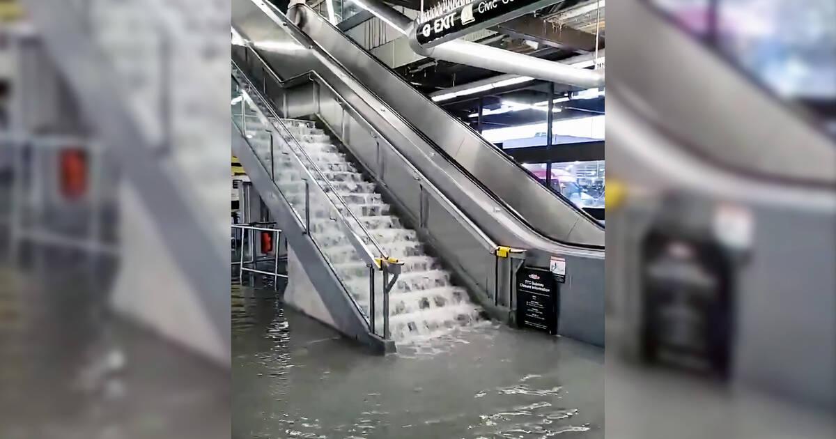 大洪水はトロント交通局を恐ろしいウォーターパークに変えます