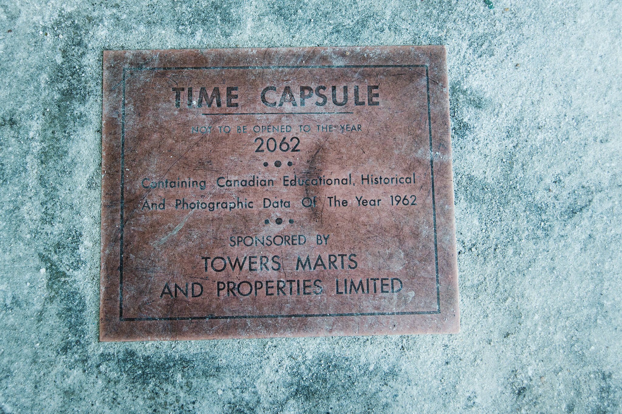 1962 time capsule
