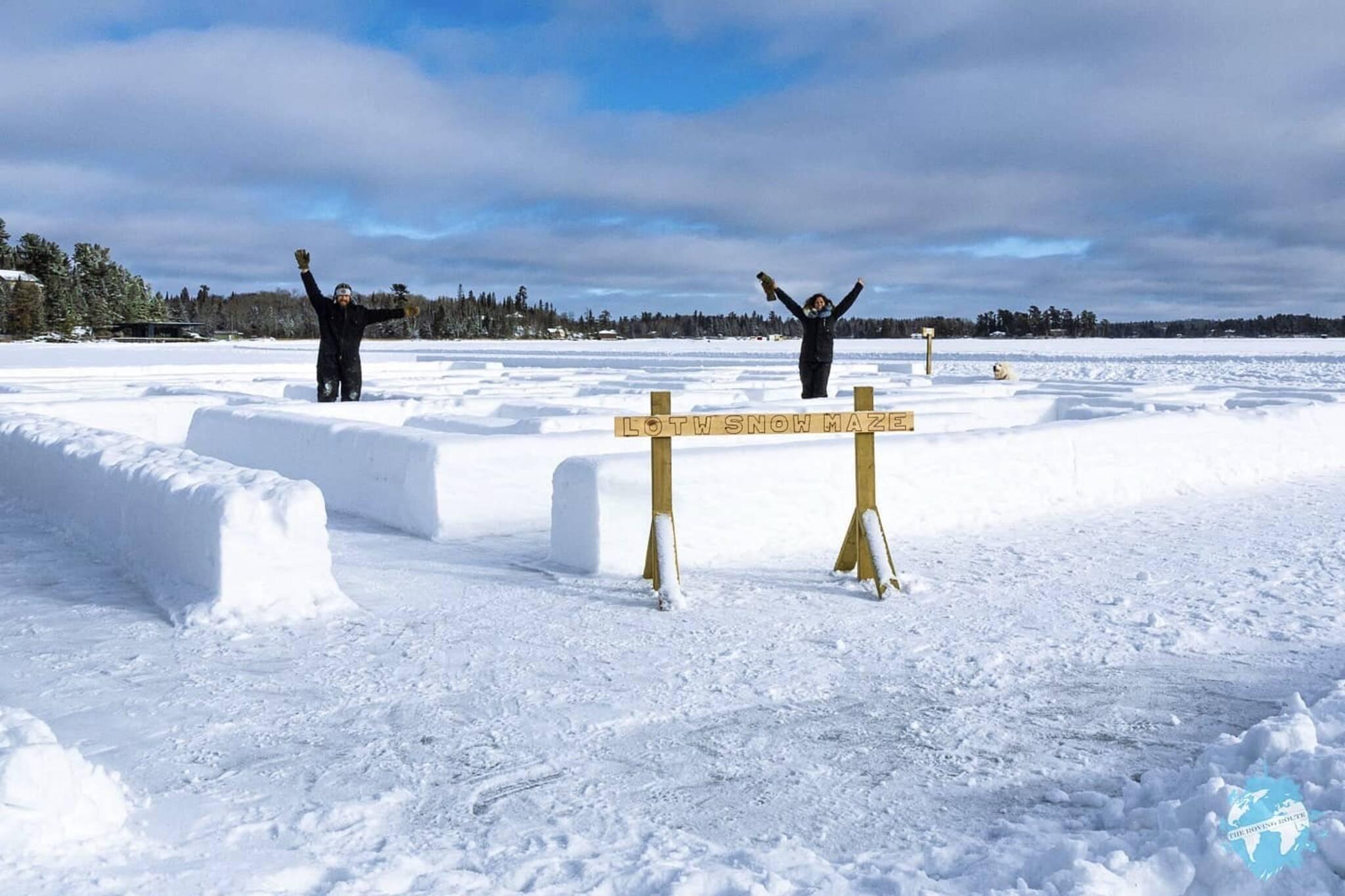 snow maze ontario