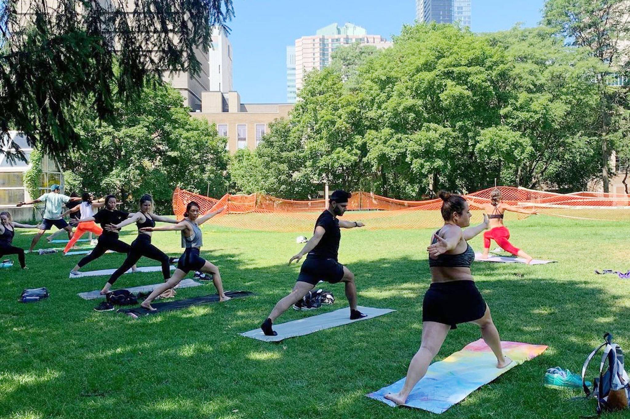 outdoor fitness classes toronto
