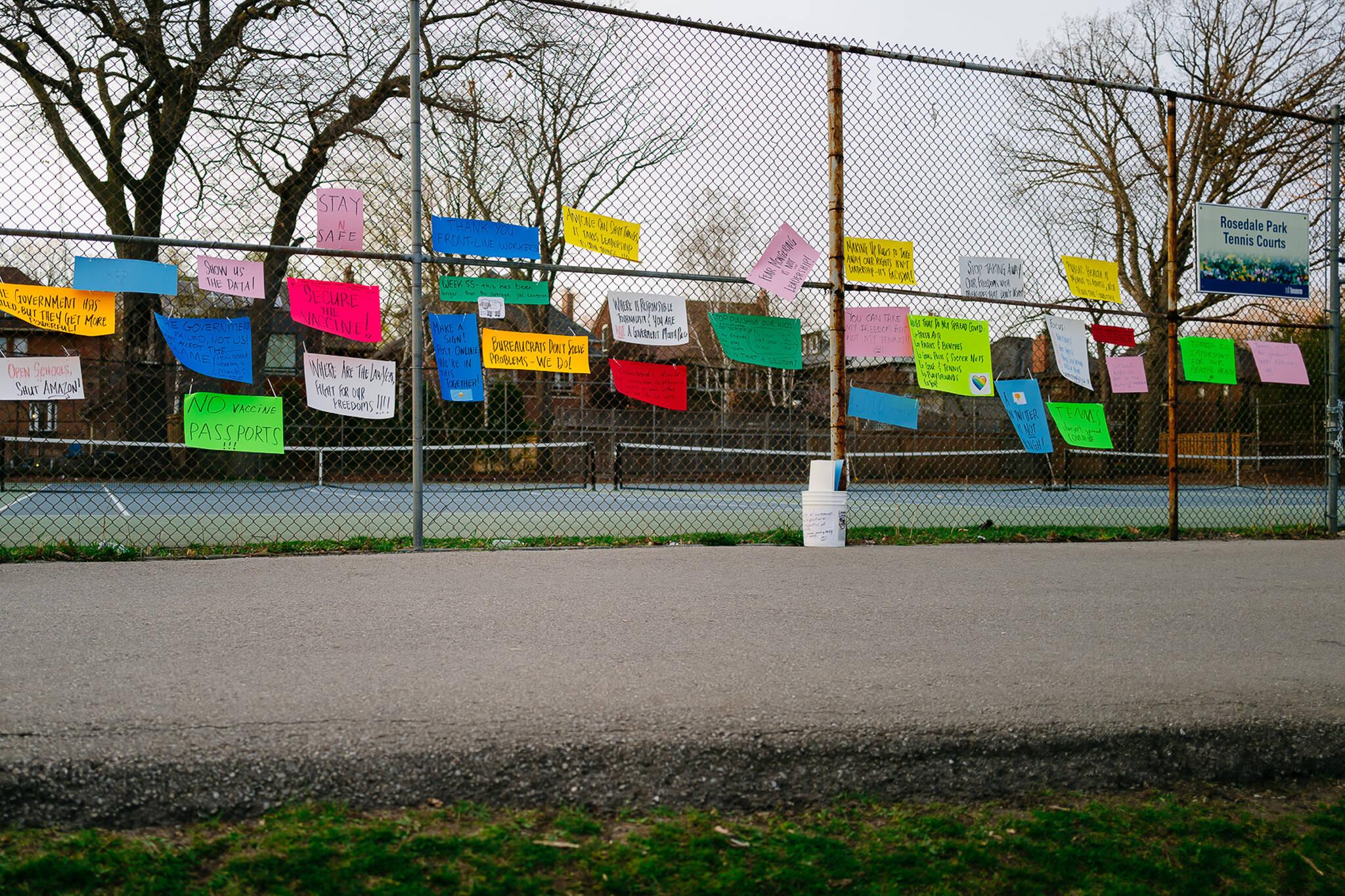 rosedale park protest toronto