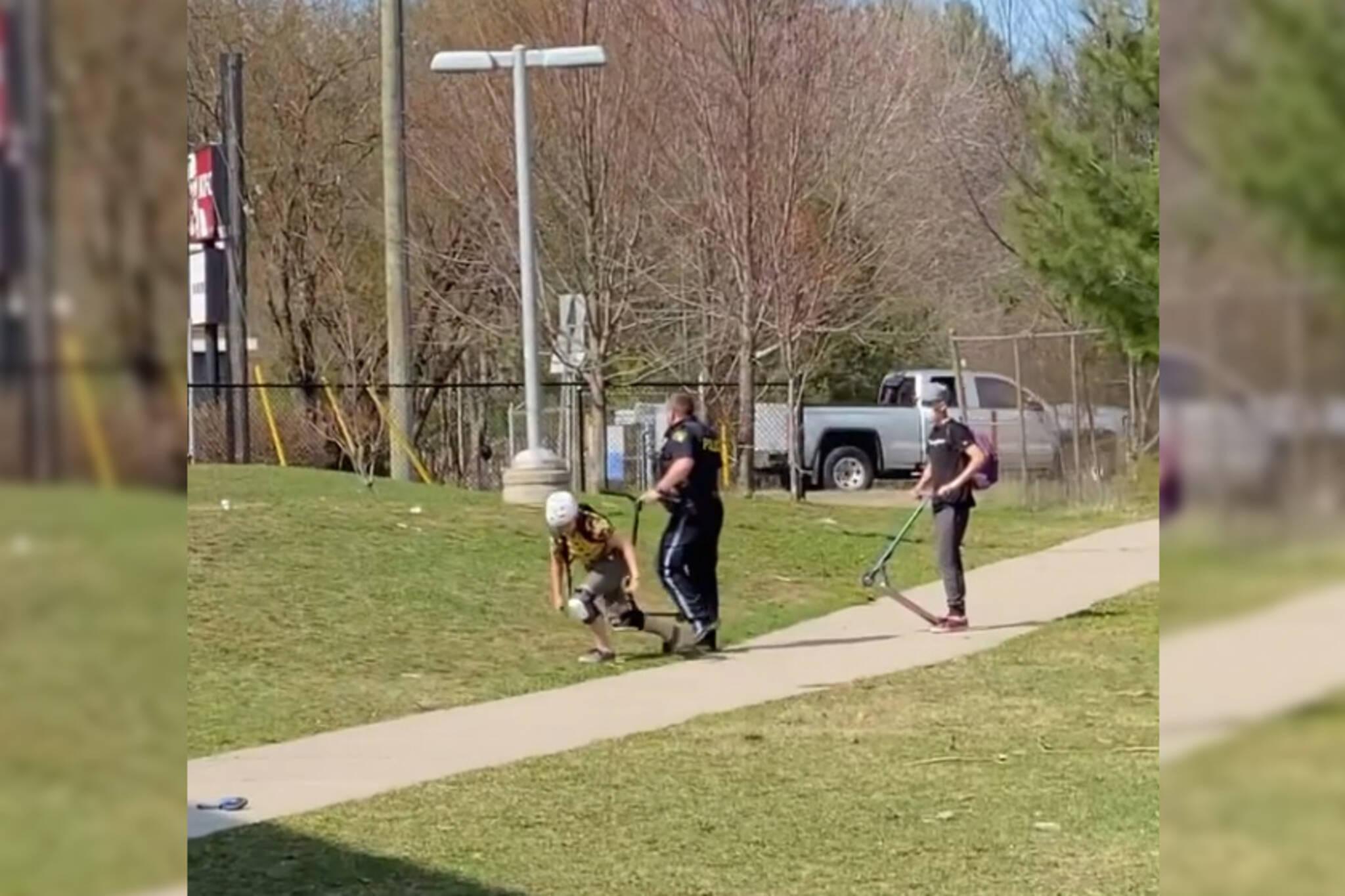 gravenhurst skatepark police