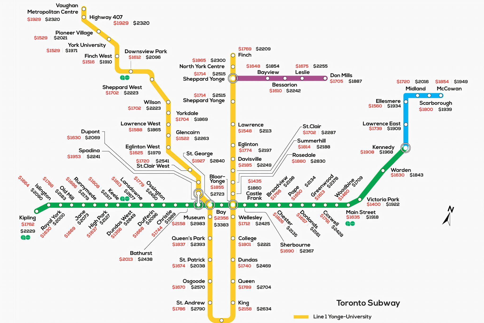 toronto rent map